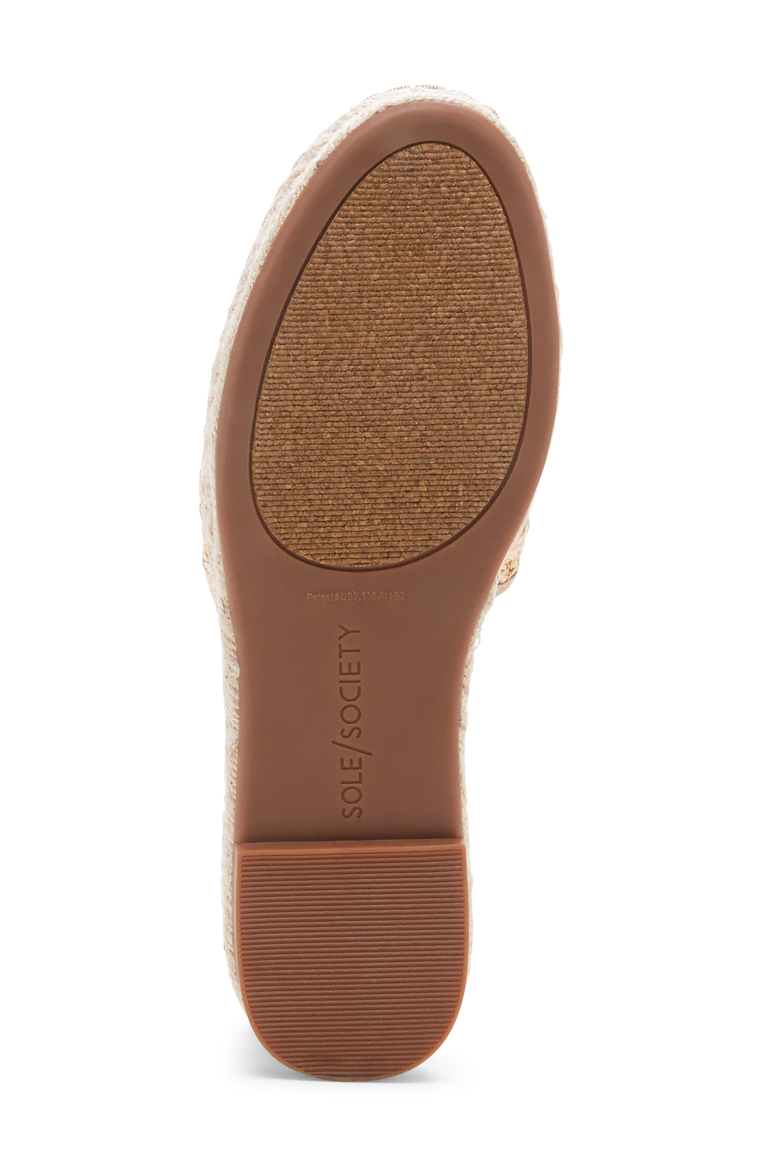 SOLE SOCIETY, Sadelle Espadrille Mule, Alternate thumbnail 6, color, NATURAL FABRIC