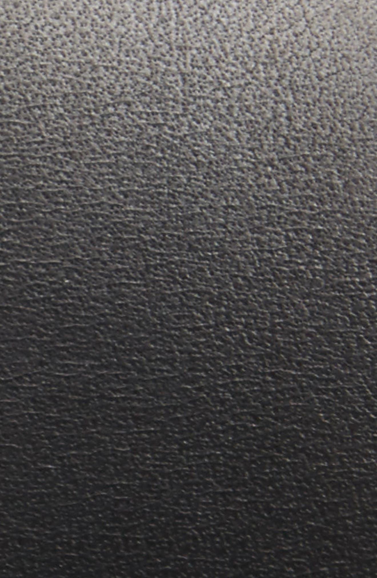 SHINOLA, Leather Belt, Alternate thumbnail 2, color, BLACK