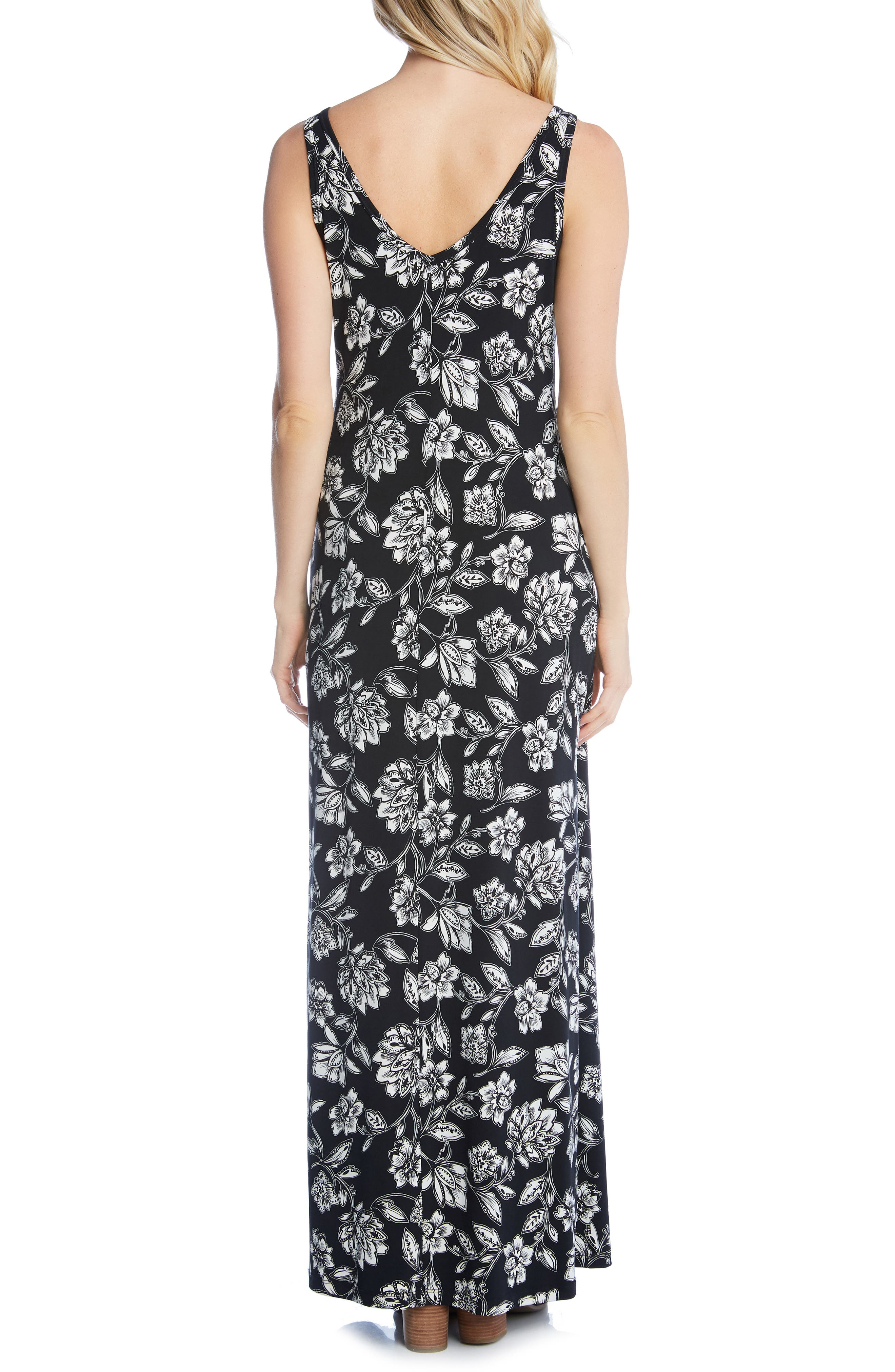 KAREN KANE, Floral Print Maxi Dress, Alternate thumbnail 2, color, PRINT