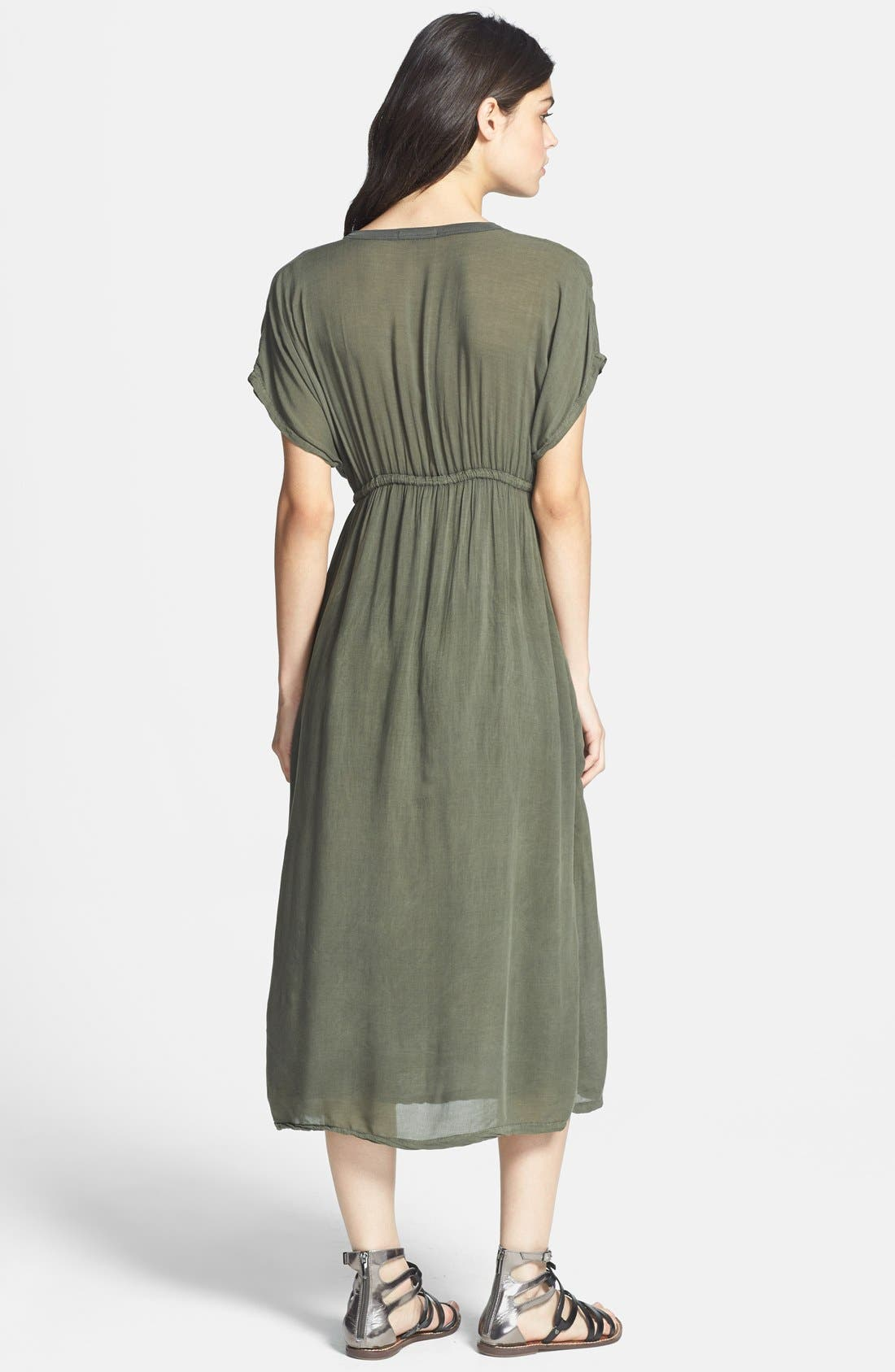 JAMES PERSE, Deep V-Neck Chiffon Dress, Alternate thumbnail 2, color, 084