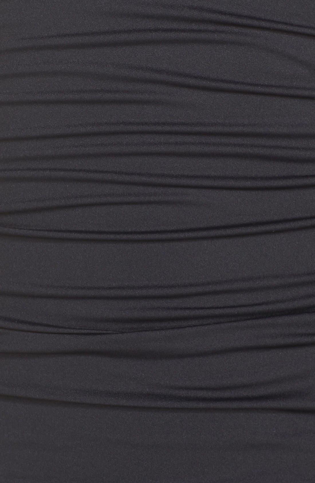 LA BLANCA, Island Goddess One-Piece Swimsuit, Alternate thumbnail 11, color, BLACK