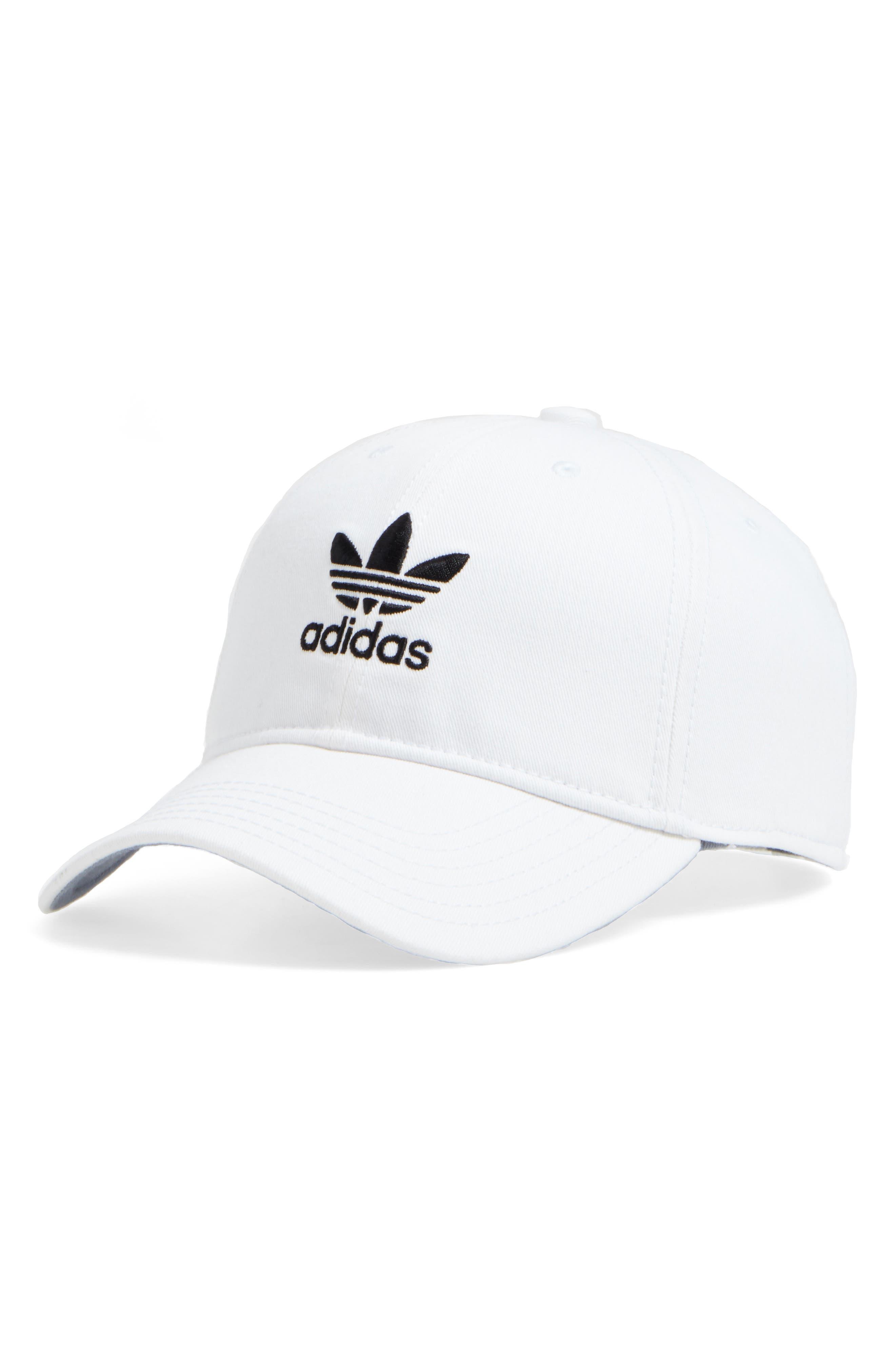 ADIDAS Trefoil Baseball Cap, Main, color, WHITE