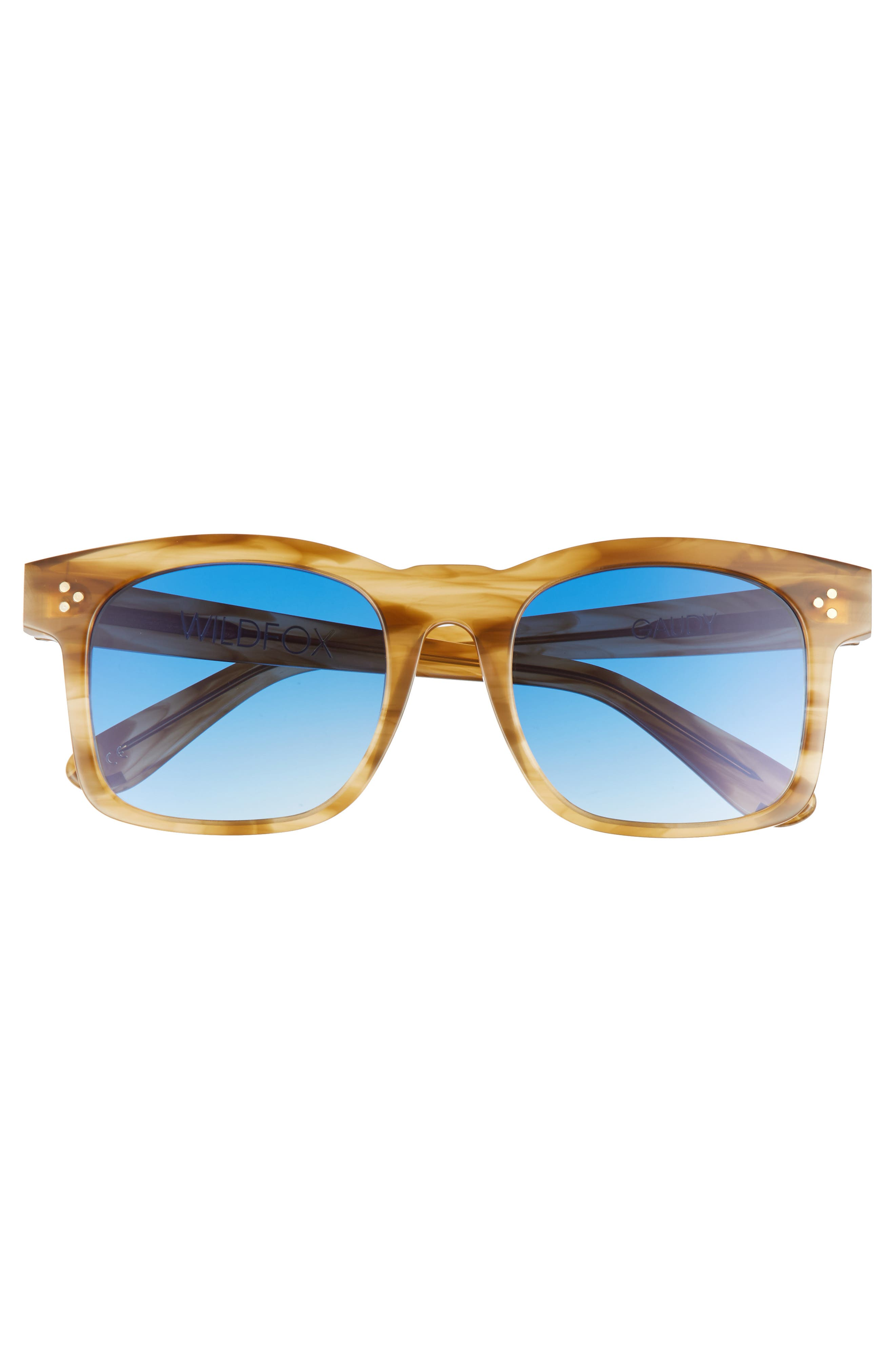 WILDFOX, Gaudy Zero 51mm Flat Square Sunglasses, Alternate thumbnail 3, color, SIERRA TORTOISE