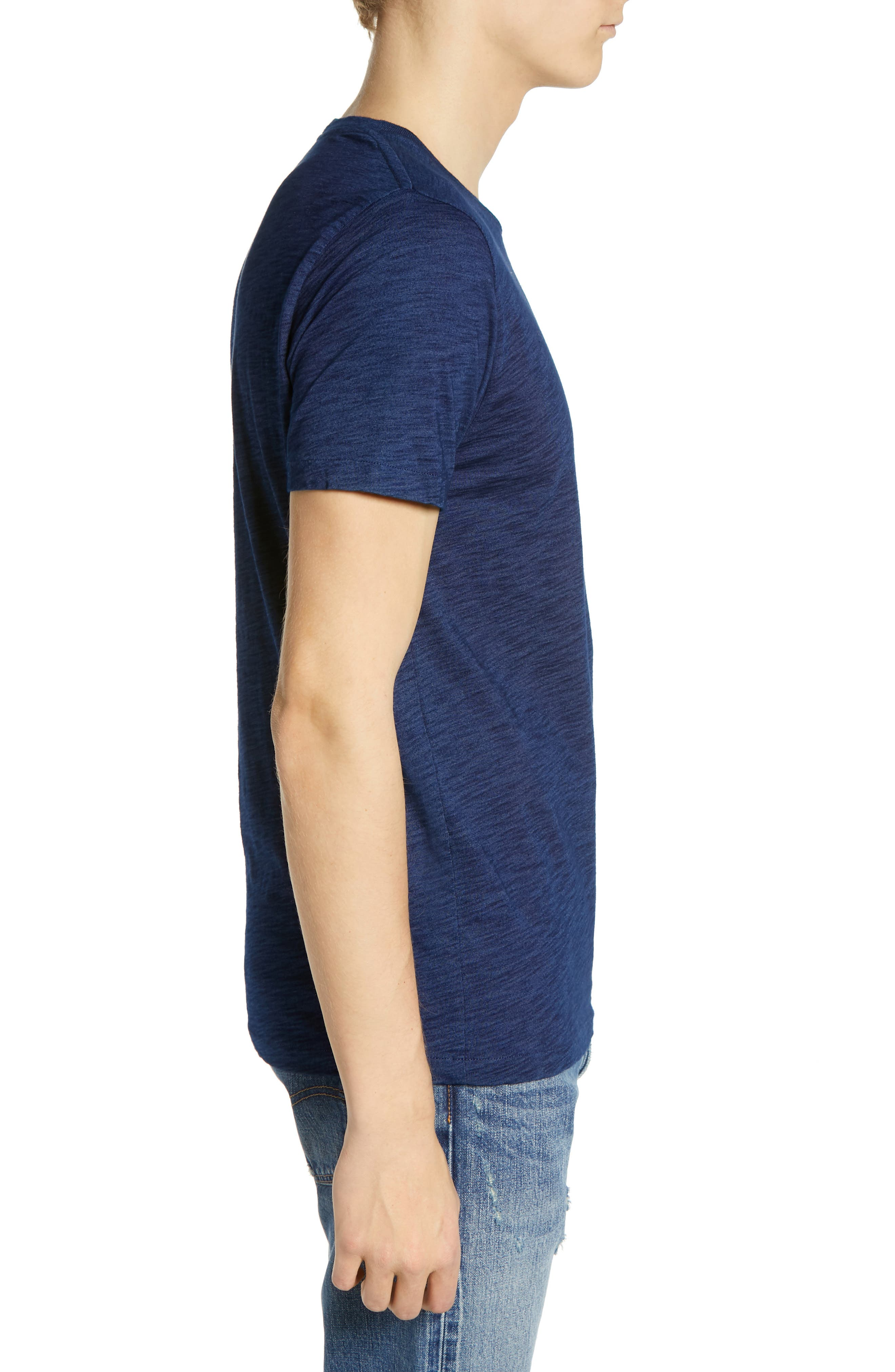 LEVI'S<SUP>®</SUP> MADE & CRAFTED<SUP>™</SUP>, Pocket T-Shirt, Alternate thumbnail 3, color, WASHED BLUE INDIGO
