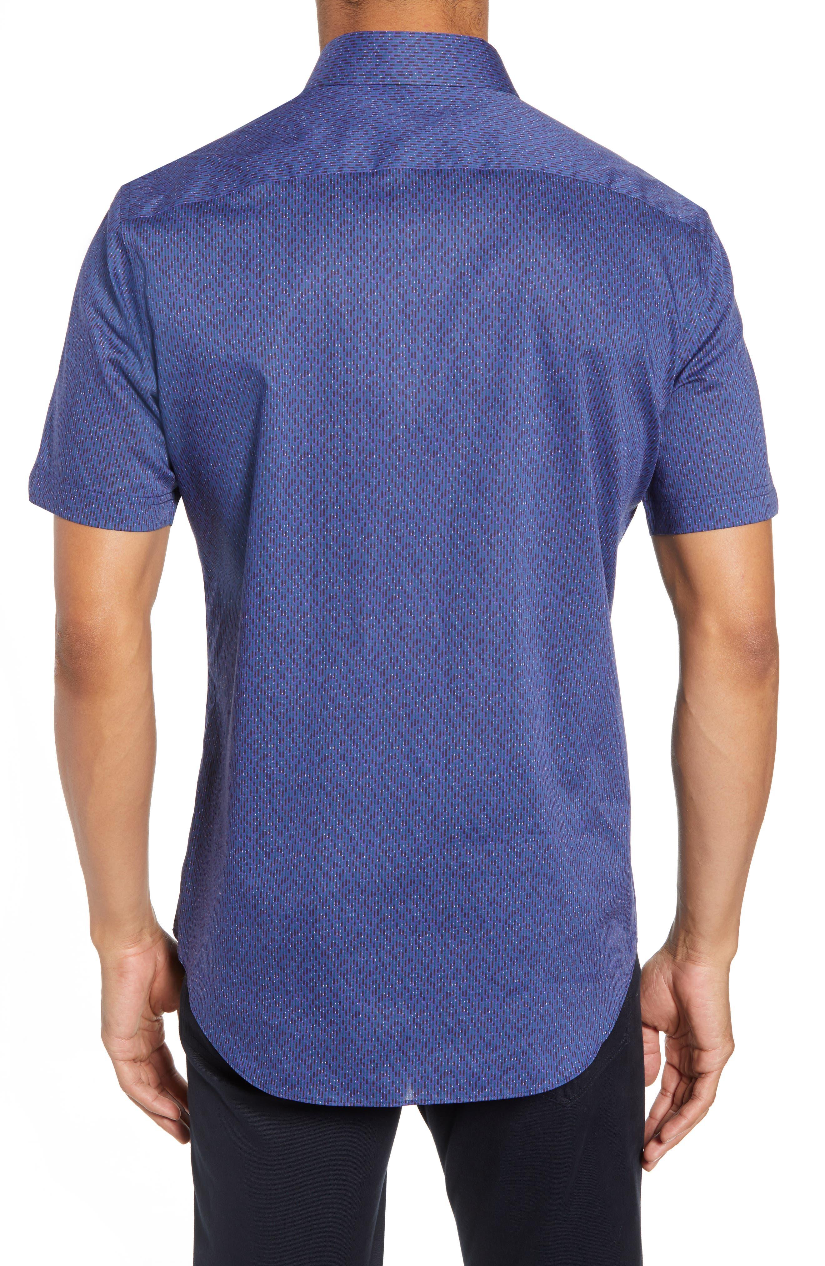ZACHARY PRELL, Print Sport Shirt, Alternate thumbnail 2, color, 410