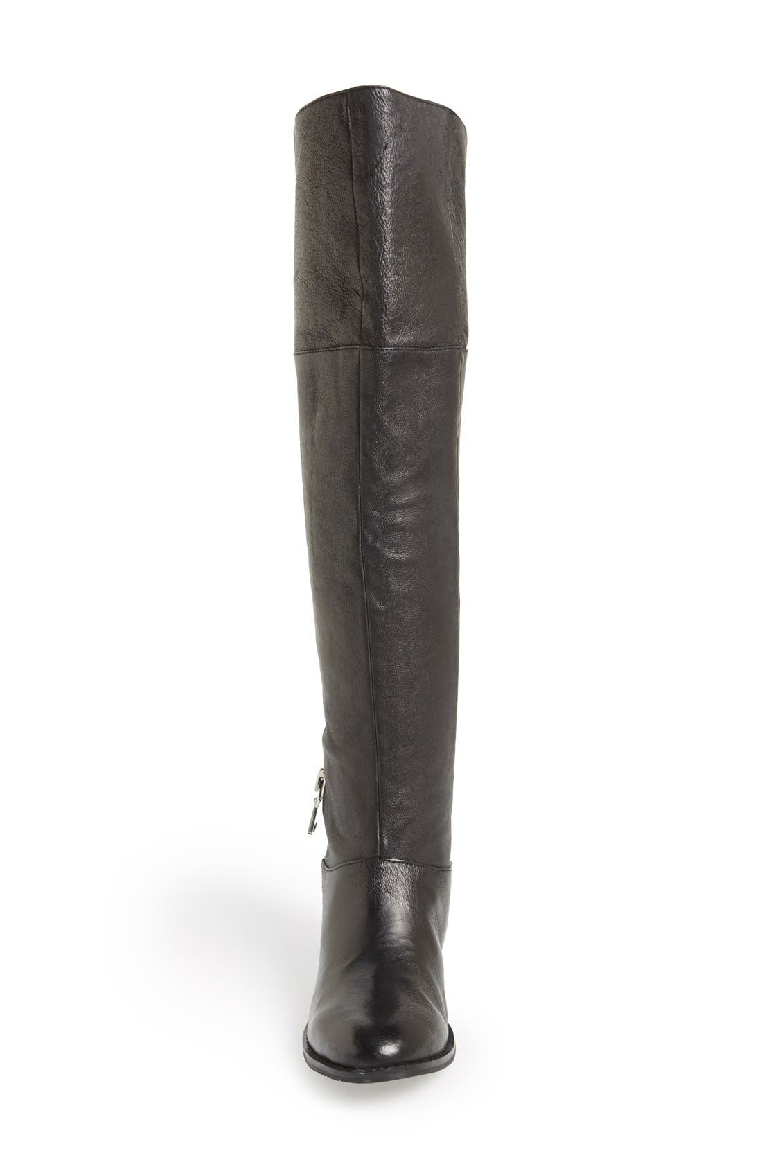 CHINESE LAUNDRY, 'Fawn' Leather Riding Boot, Alternate thumbnail 2, color, 001