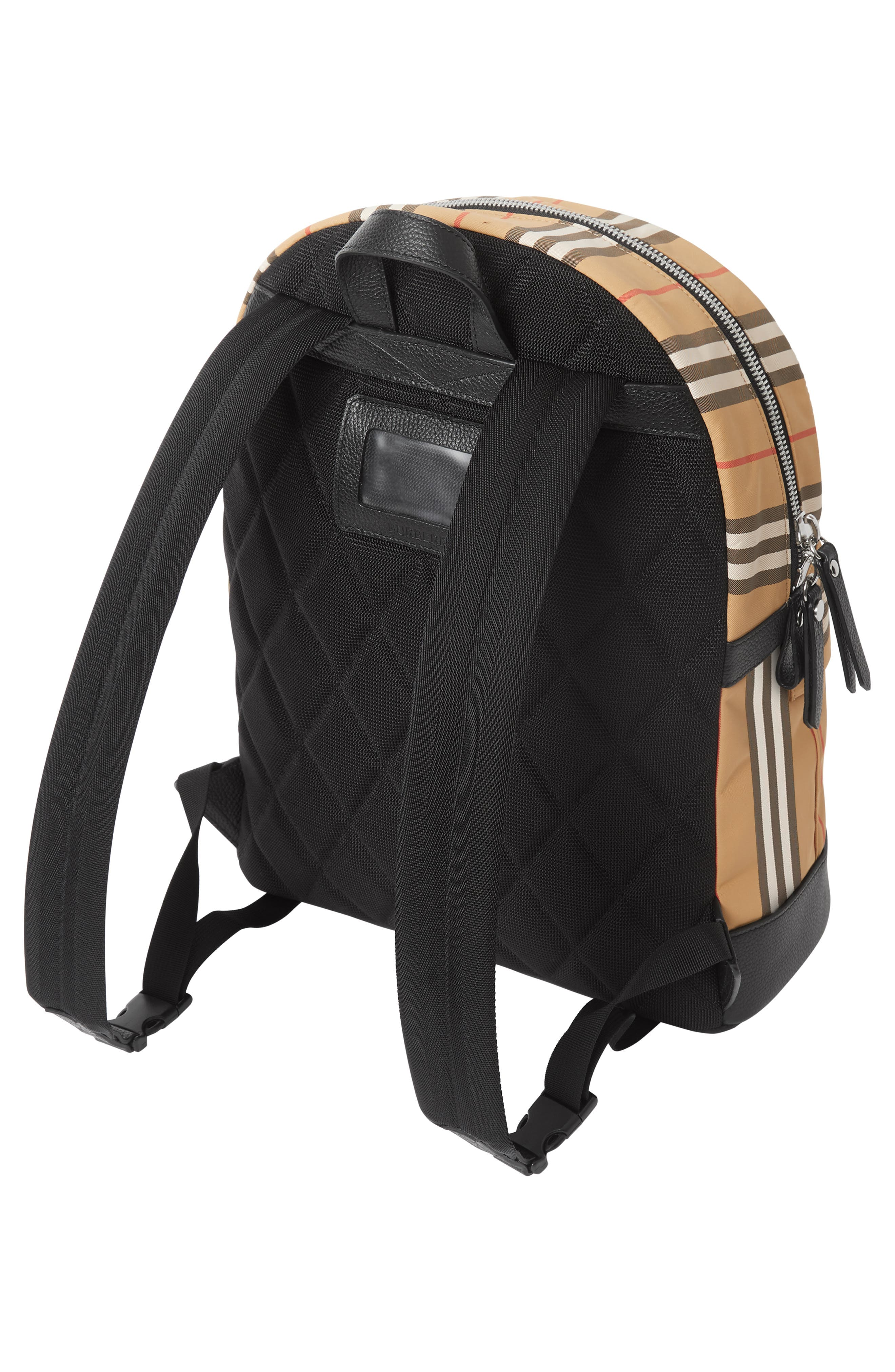 BURBERRY, Nico Archive Stripe Backpack, Alternate thumbnail 6, color, ARCHIVE BEIGE