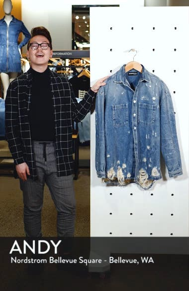 Distressed Denim Overshirt, sales video thumbnail