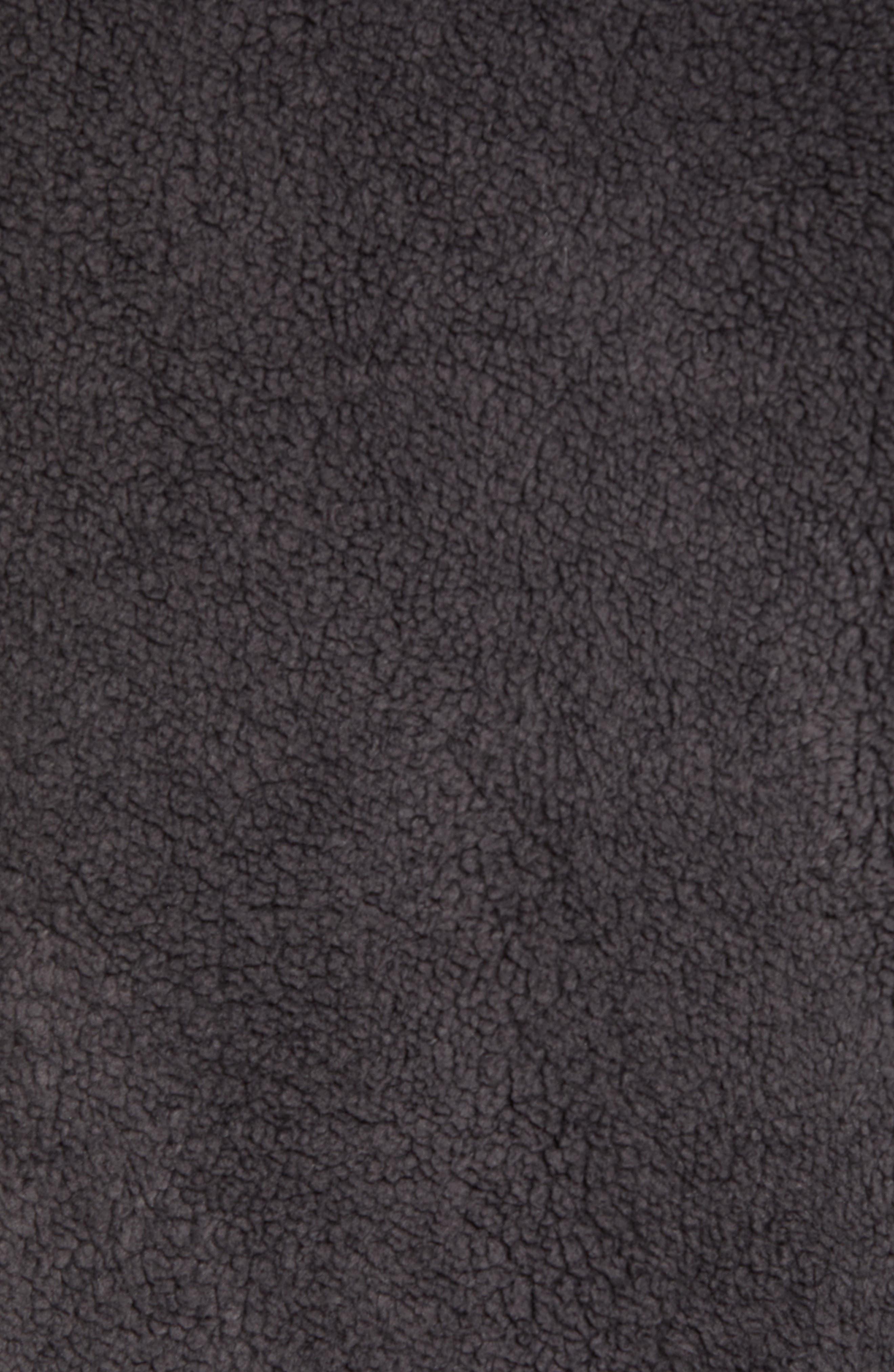 UGG<SUP>®</SUP>, Lucas High Pile Fleece Sweater Jacket, Alternate thumbnail 6, color, CHARCOAL