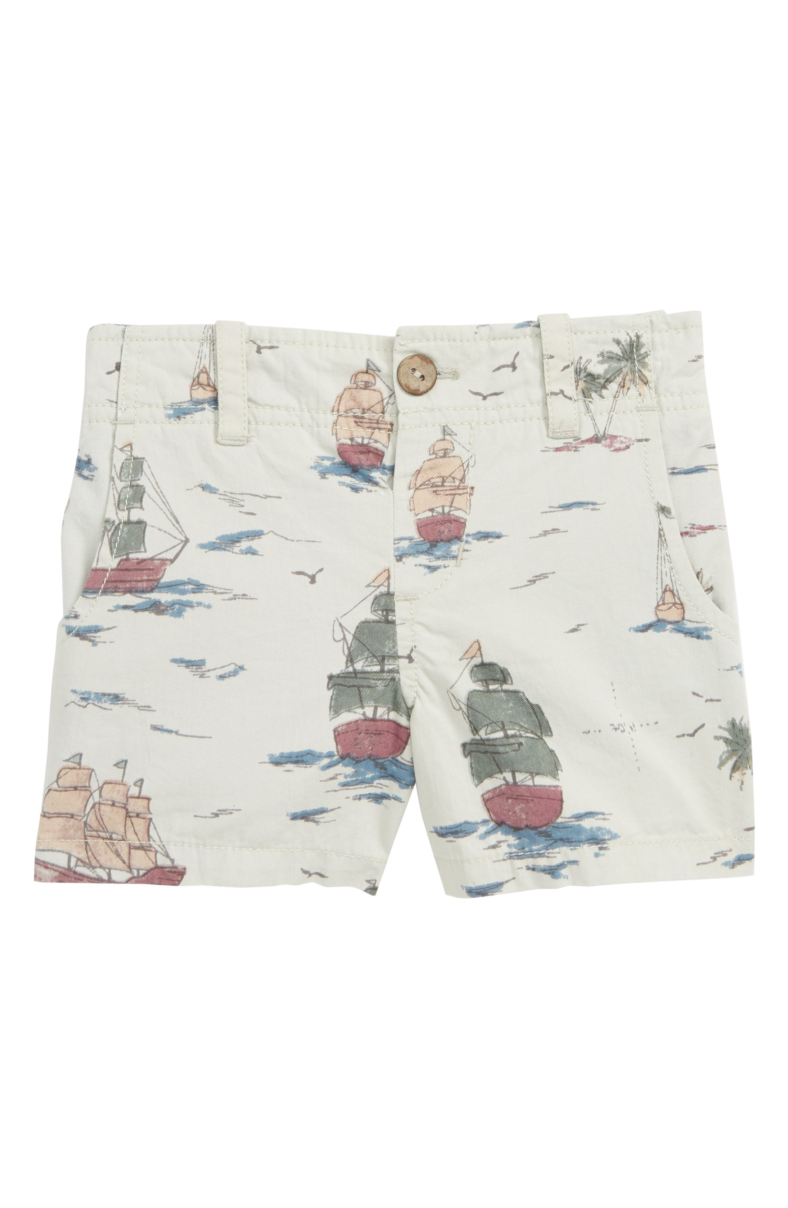 PEEK ESSENTIALS, Pirate Ship Shorts, Main thumbnail 1, color, KHAKI