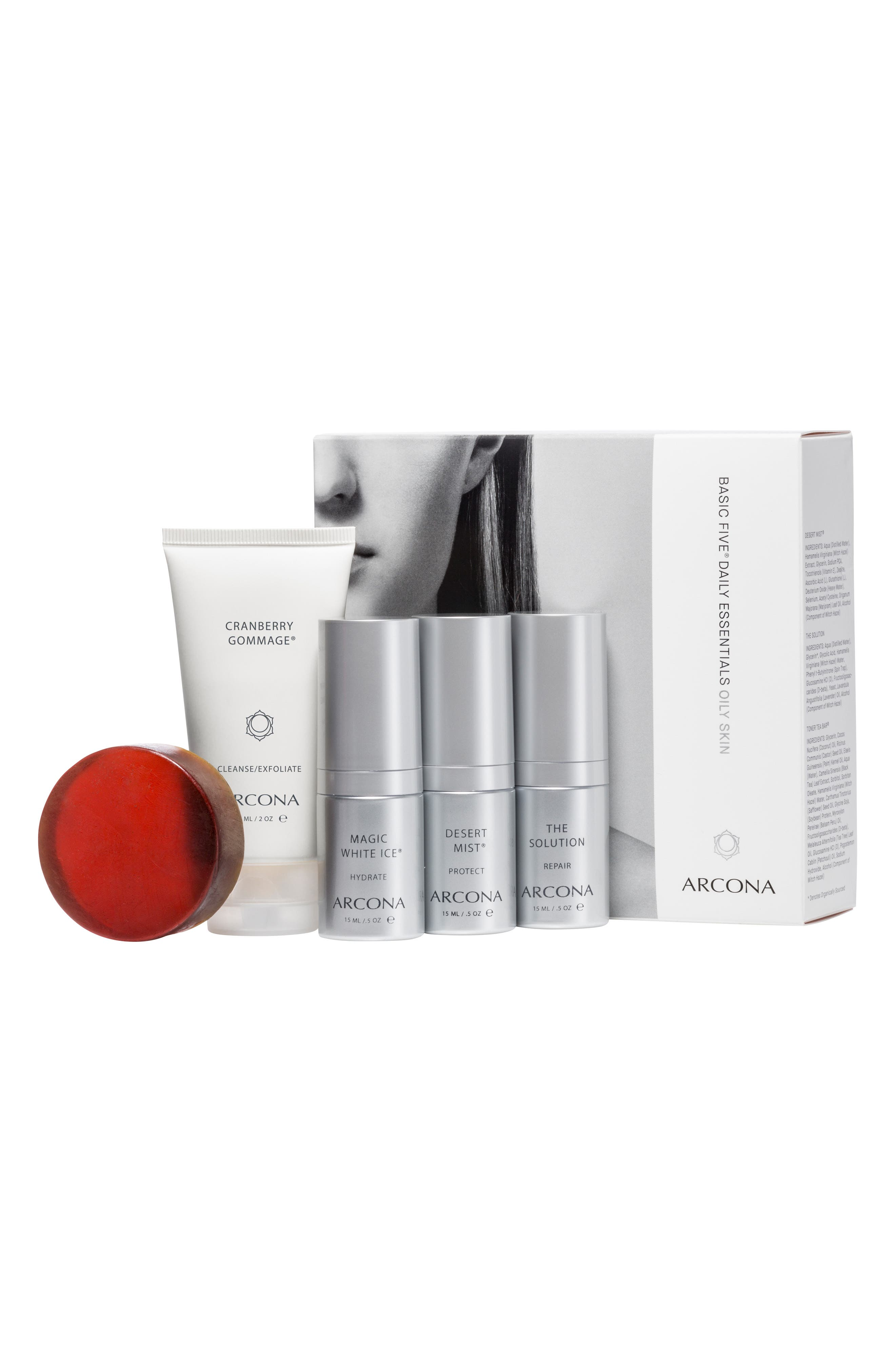 ARCONA, Basic Five<sup>®</sup> Oily Skin Type Collection, Main thumbnail 1, color, NO COLOR