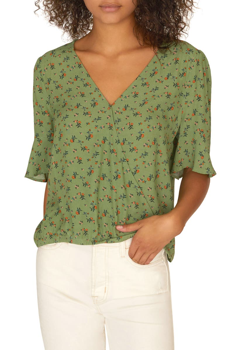 Sanctuary Tops GARDEN PARTY WRAP TOP