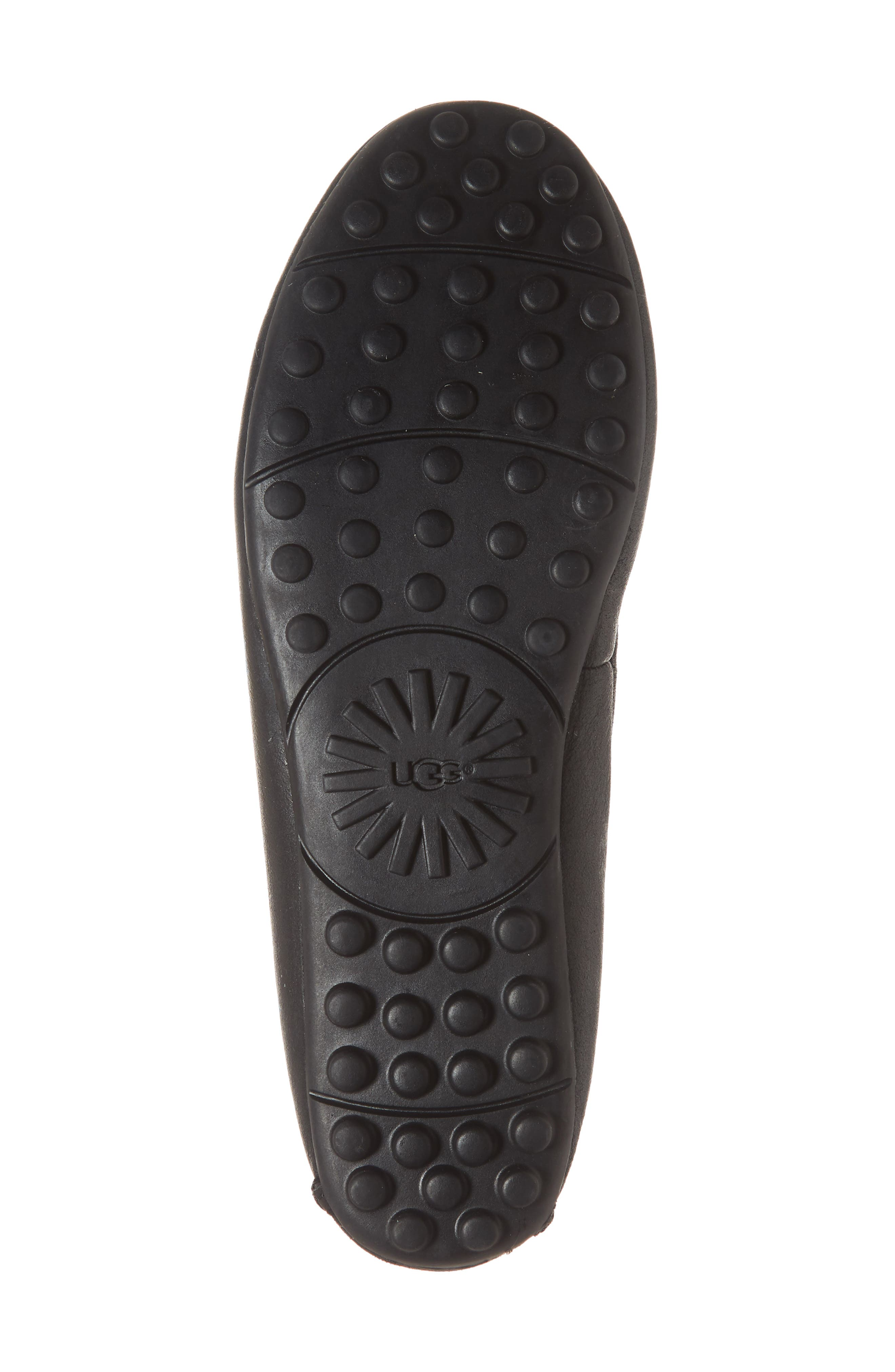 UGG<SUP>®</SUP>, Deluxe Loafer, Alternate thumbnail 6, color, BLACK LEATHER