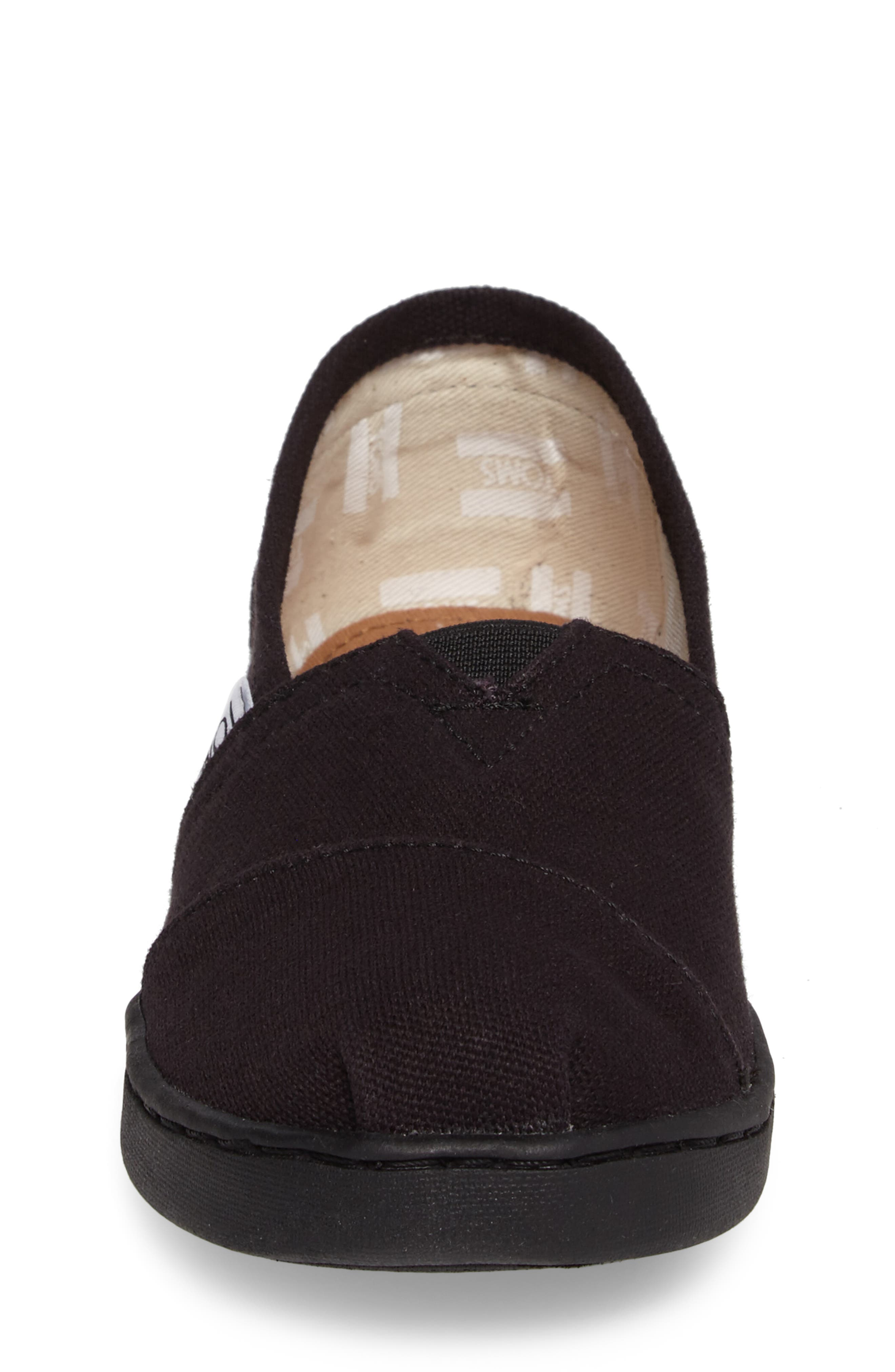 TOMS, 2.0 Classic Alpargata Slip-On, Alternate thumbnail 4, color, BLACK CANVAS