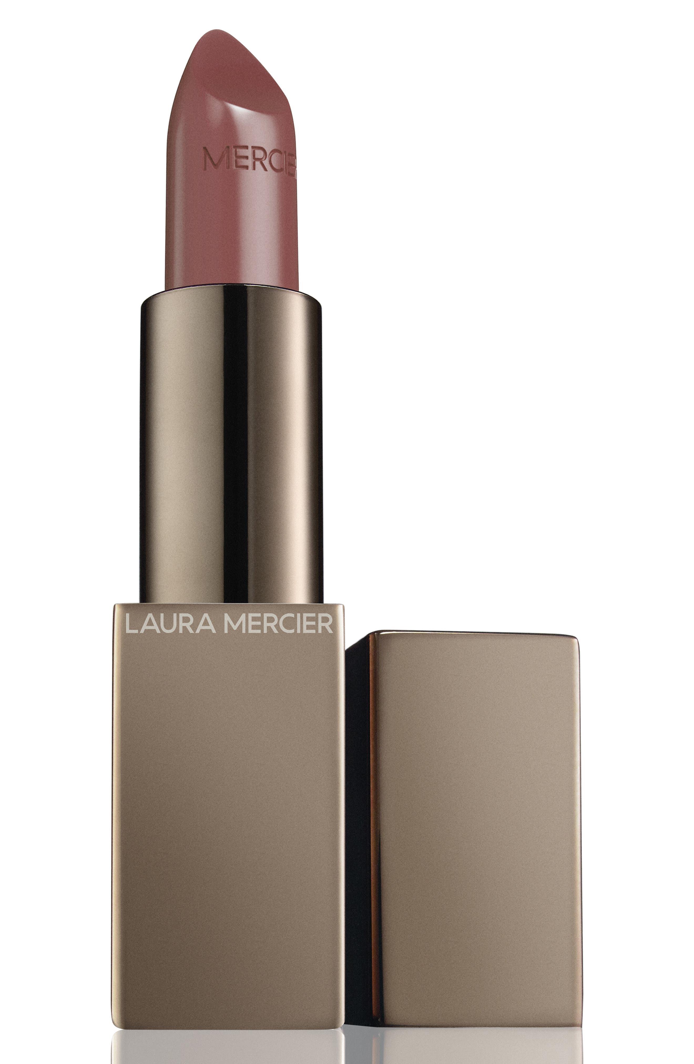 LAURA MERCIER, Rouge Essentiel Silky Crème Lipstick, Main thumbnail 1, color, BEIGE INTIME