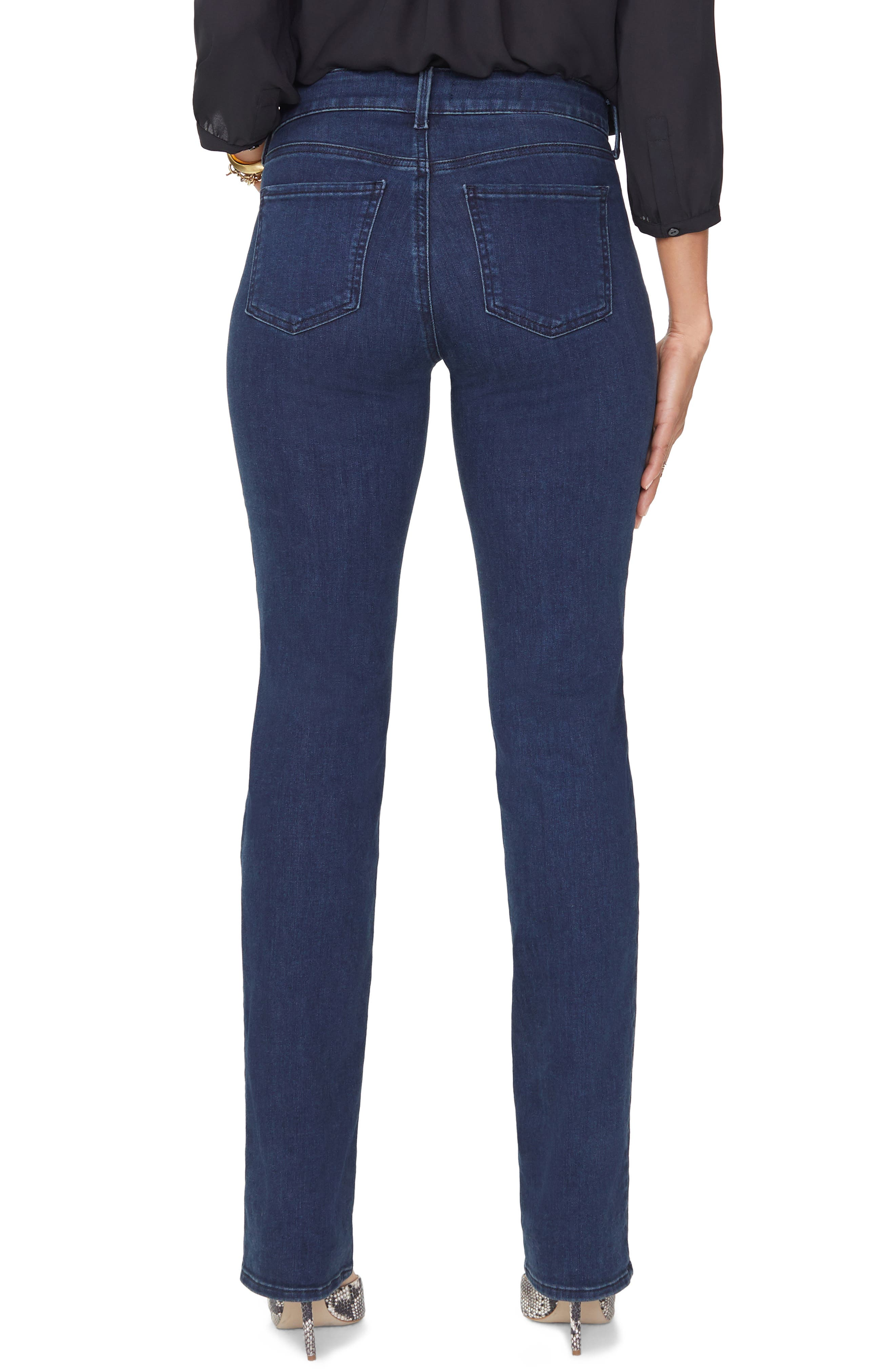 NYDJ, Marilyn Stretch Straight Leg Jeans, Alternate thumbnail 2, color, 405