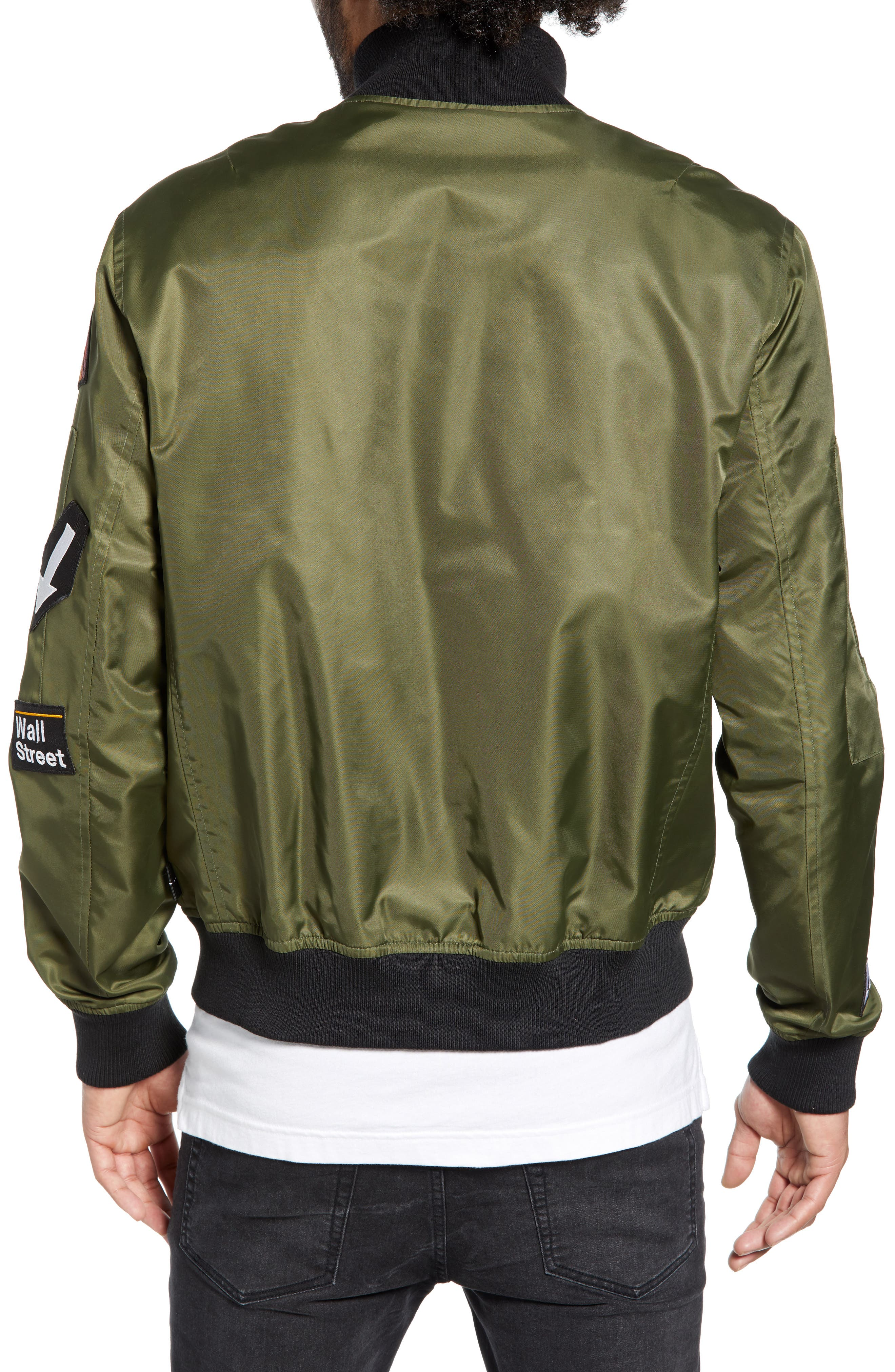 THE VERY WARM, Lucian Reversible Bomber Jacket, Alternate thumbnail 4, color, ARMY GREEN