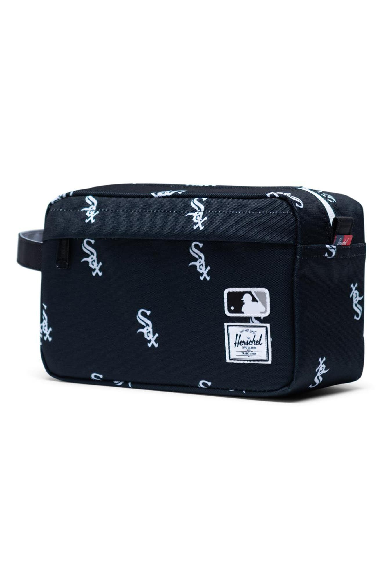 HERSCHEL SUPPLY CO., Chapter - MLB Outfield Dopp Kit, Alternate thumbnail 3, color, CHICAGO WHITE SOX
