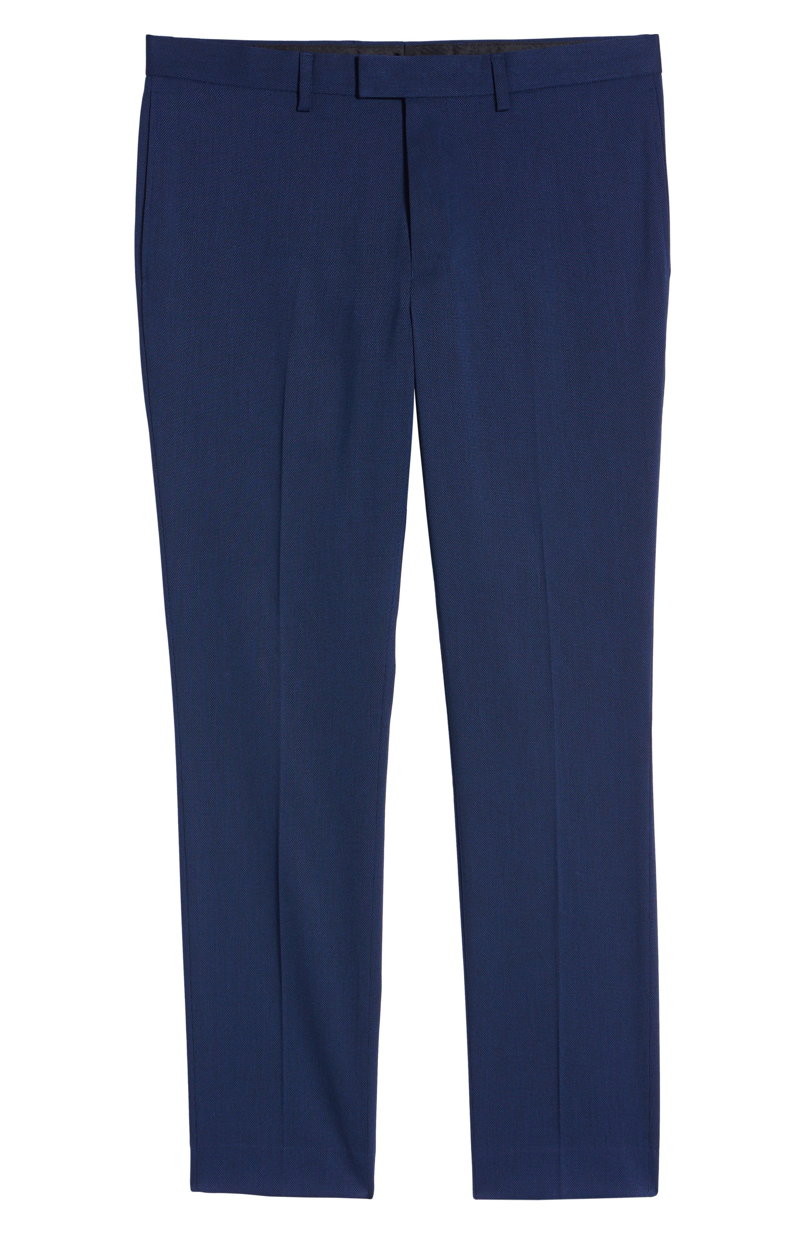 TOPMAN, Skinny Fit Suit Pants, Alternate thumbnail 5, color, MID BLUE