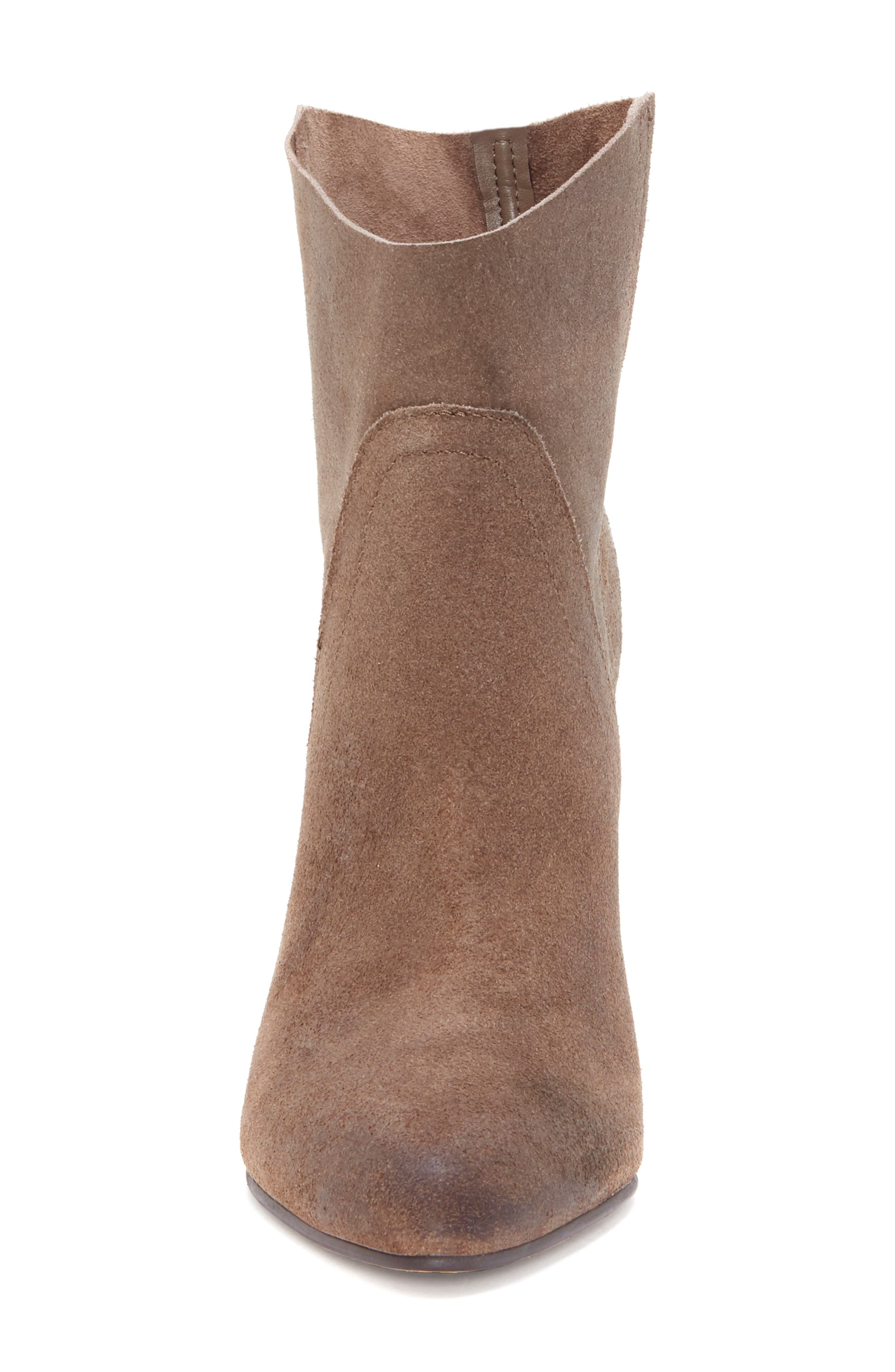 VINCE CAMUTO, Creestal Western Bootie, Alternate thumbnail 4, color, BEDROCK LEATHER