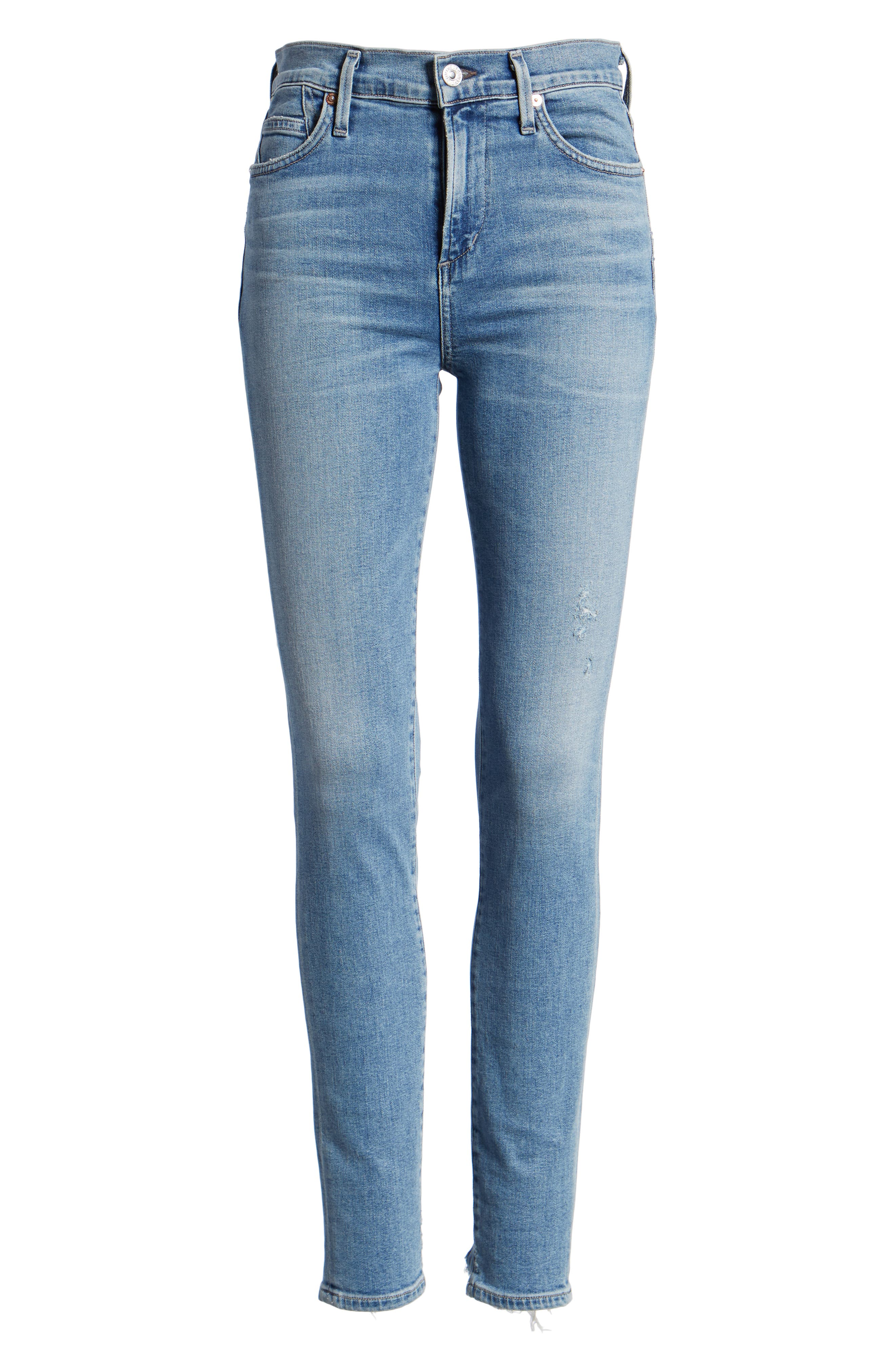 CITIZENS OF HUMANITY, Rocket High Waist Skinny Jeans, Alternate thumbnail 7, color, SMALL TALK