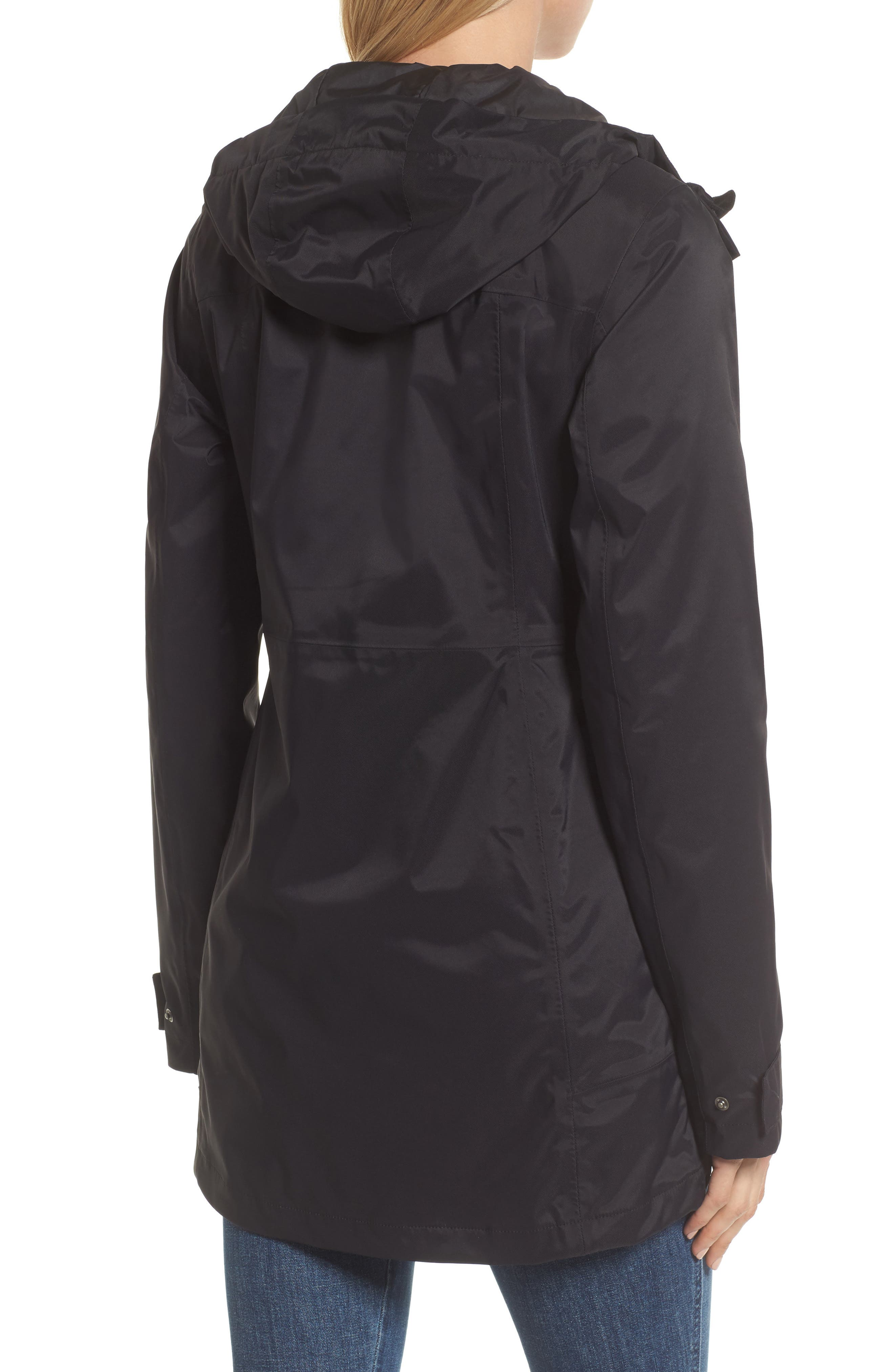 THE NORTH FACE, City Midi Trench Coat, Alternate thumbnail 2, color, 001