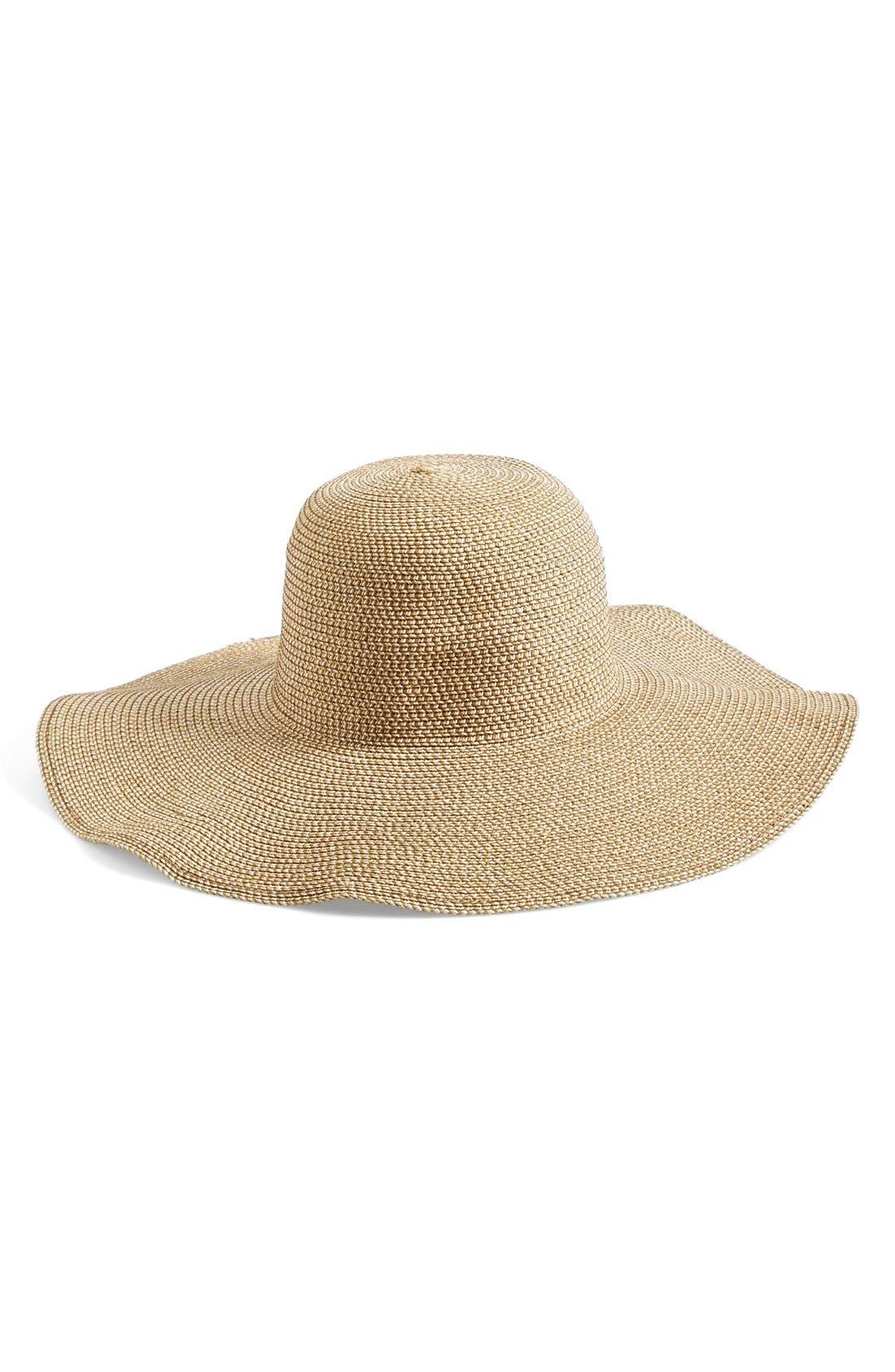BP., Floppy Straw Look Hat, Main thumbnail 1, color, NATURAL