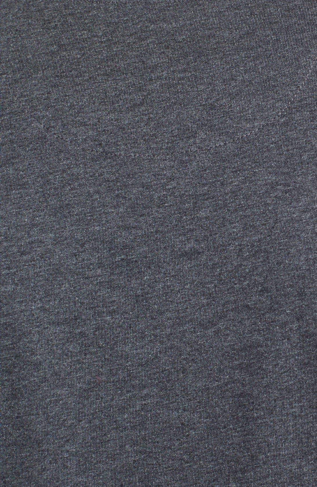 TOMMY BAHAMA, 'New Bali Sky' Original Fit Crewneck Pocket T-Shirt, Alternate thumbnail 7, color, CHARCOAL HEATHER