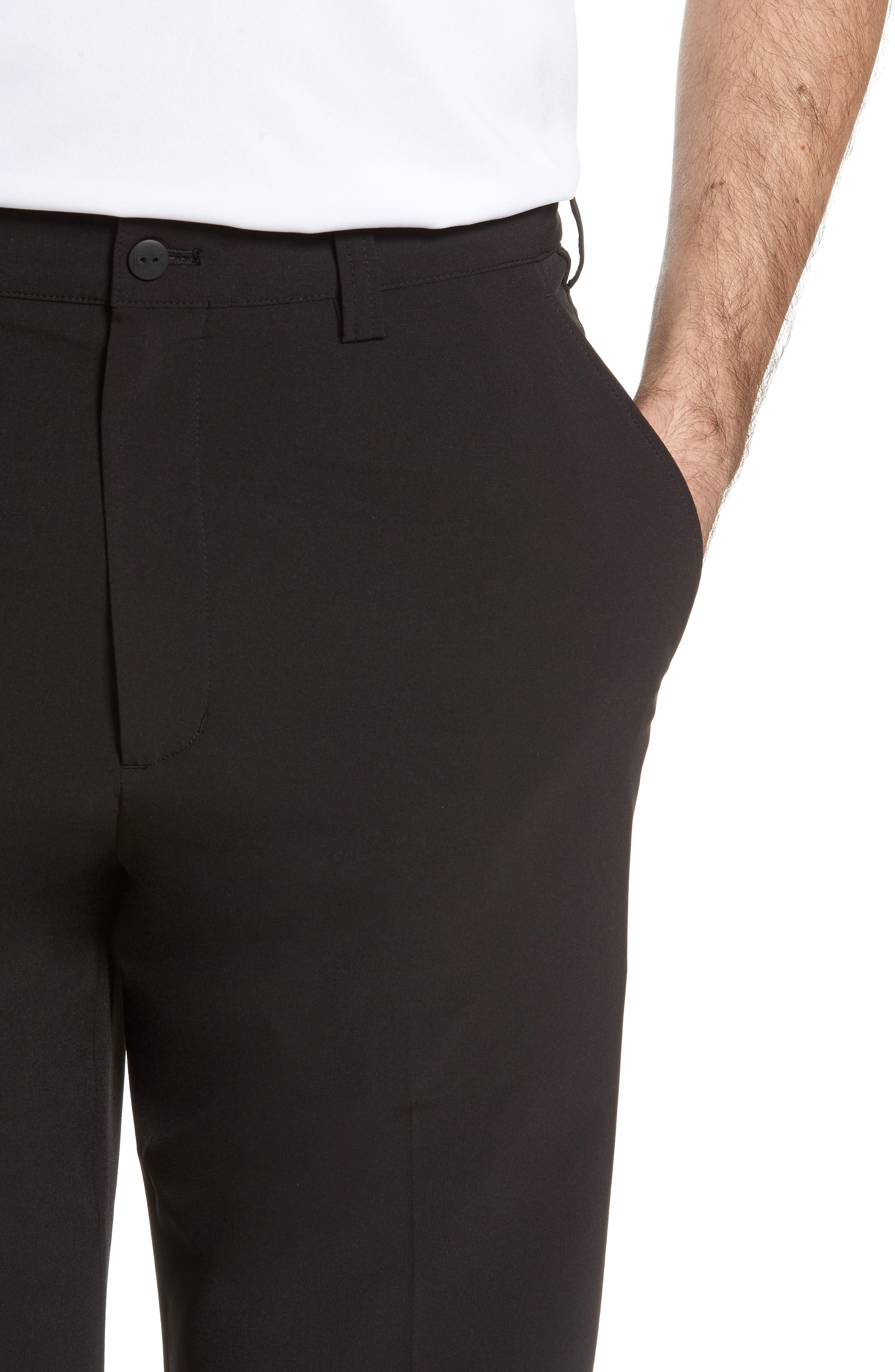 CUTTER & BUCK, DryTec Chinos, Alternate thumbnail 4, color, BLACK