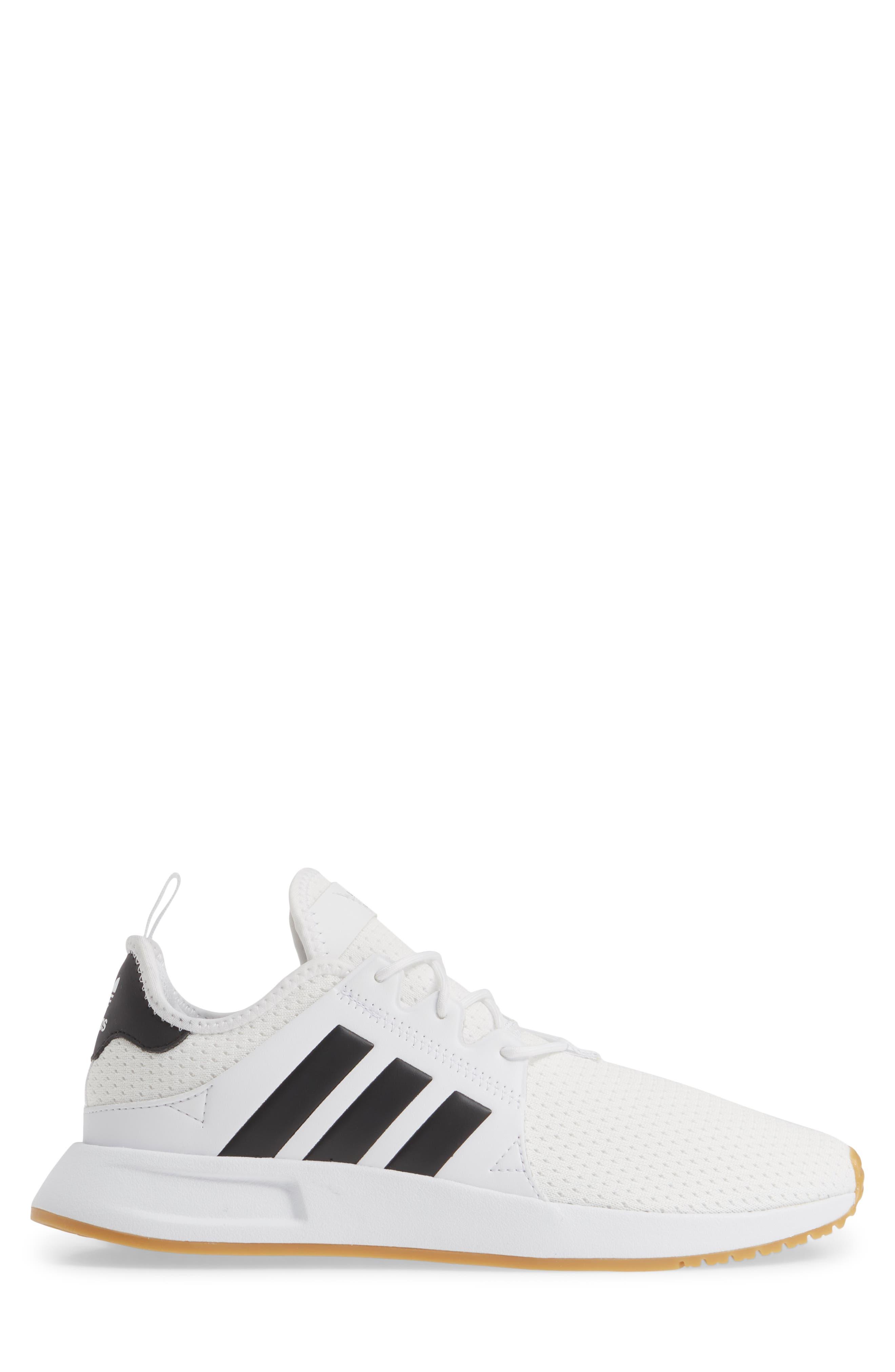 ADIDAS, X_PLR Sneaker, Alternate thumbnail 3, color, WHITE/ CORE BLACK/ GUM