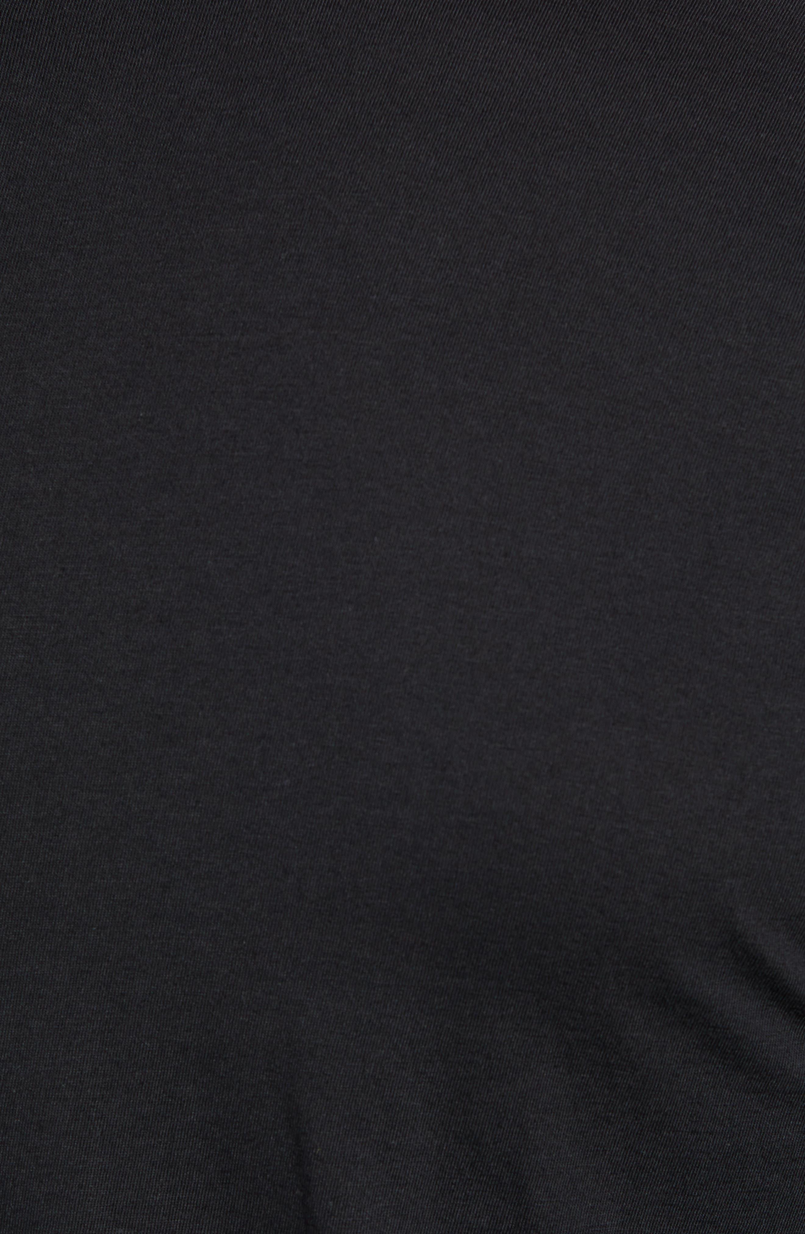 RAG & BONE, Classic Base T-Shirt, Alternate thumbnail 5, color, BLACK