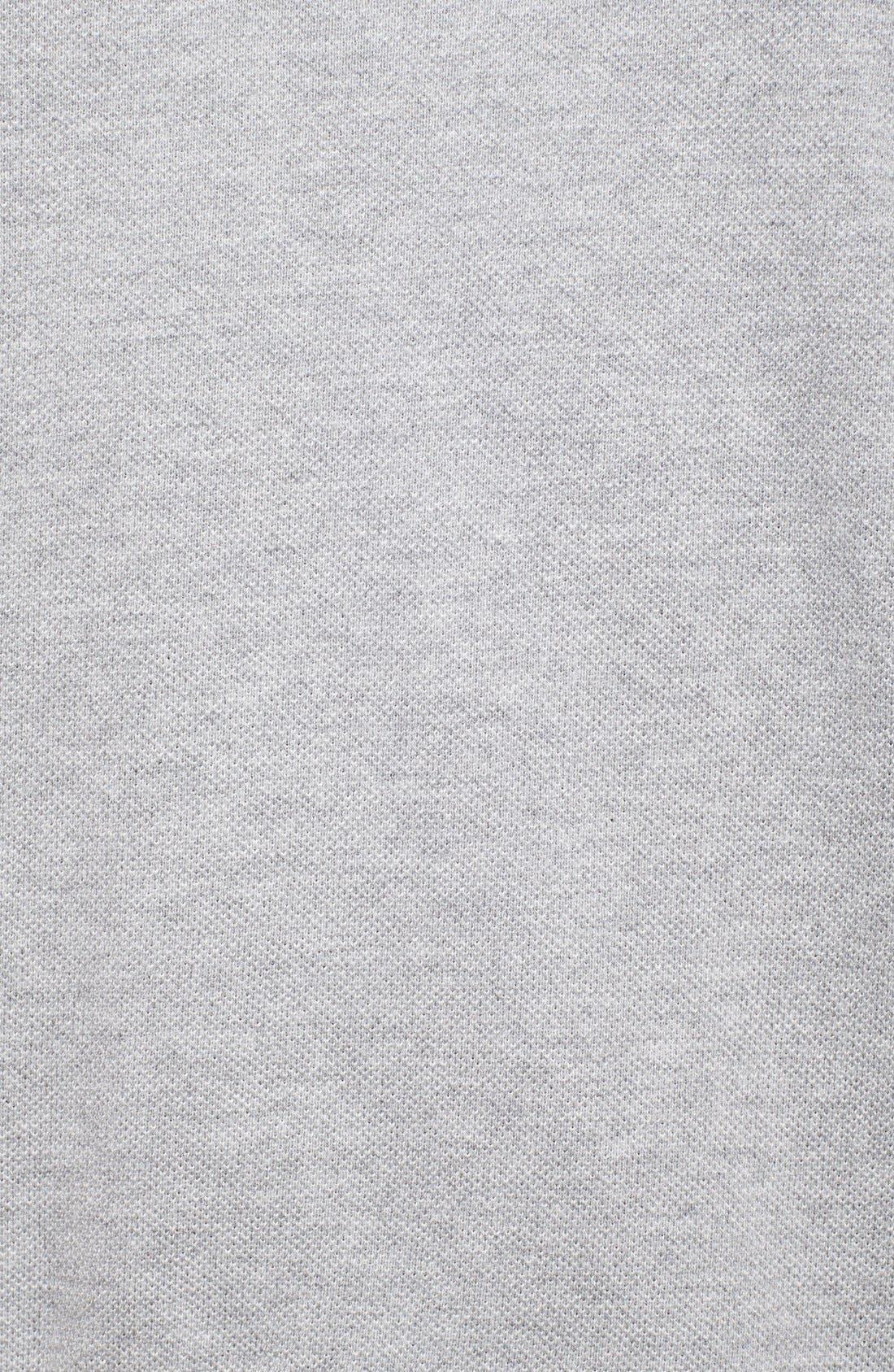 THOM BROWNE, Club Collar Cotton Piqué Polo, Alternate thumbnail 3, color, 020