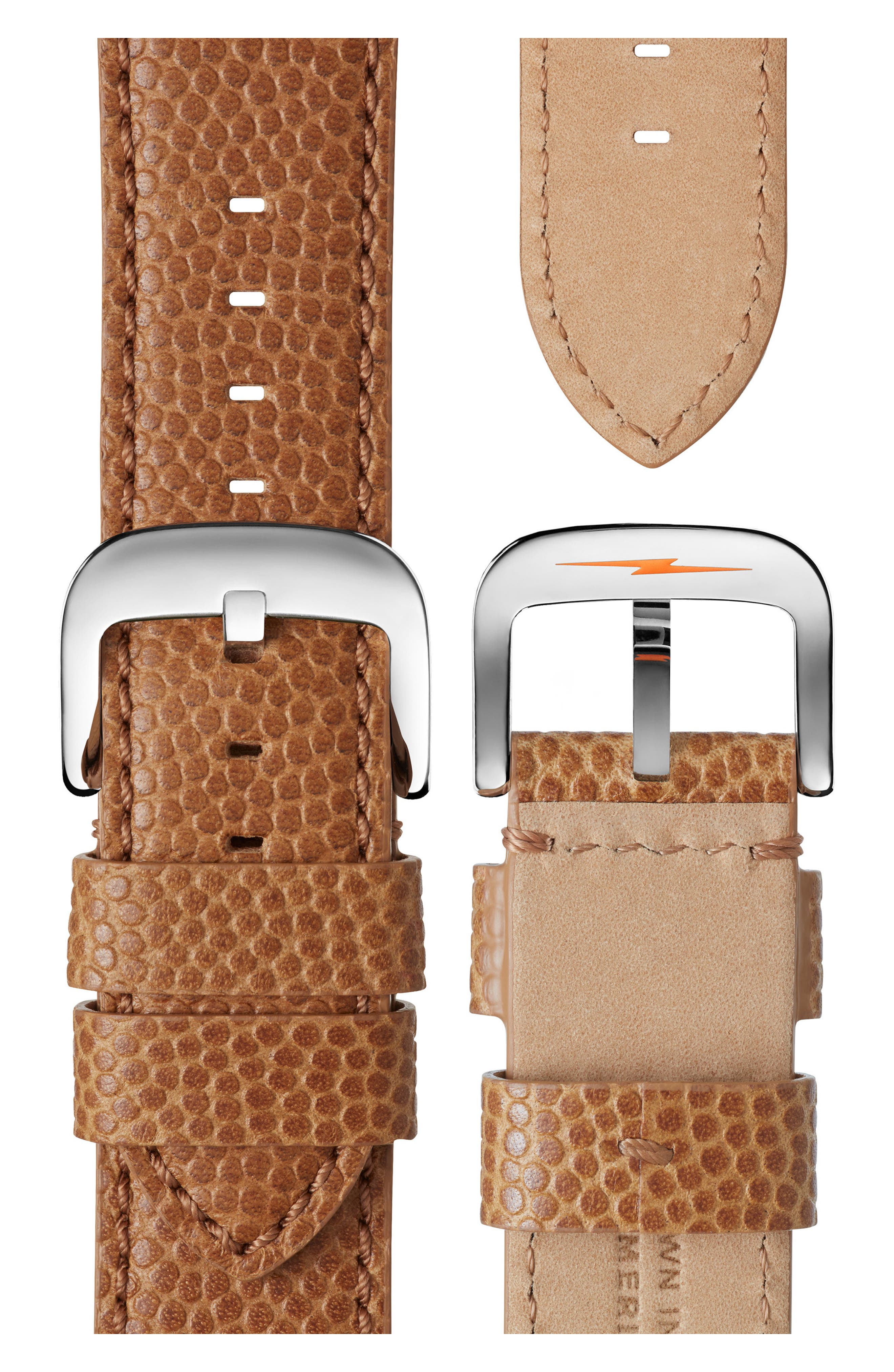 SHINOLA, Runwell Leather Strap Watch, 47mm, Alternate thumbnail 4, color, DARK CAMEL/ BRUSHED DARK