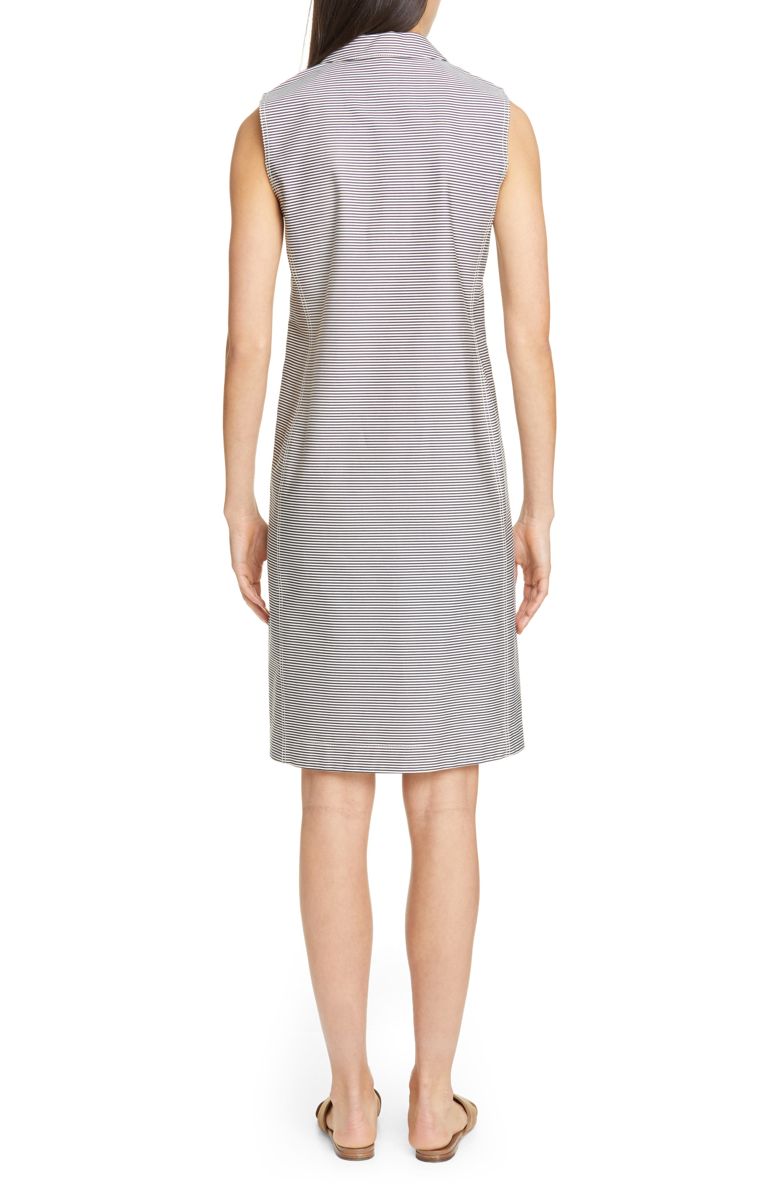 LAFAYETTE 148 NEW YORK, Rudy Stripe Shift Dress, Alternate thumbnail 2, color, INK MULTI