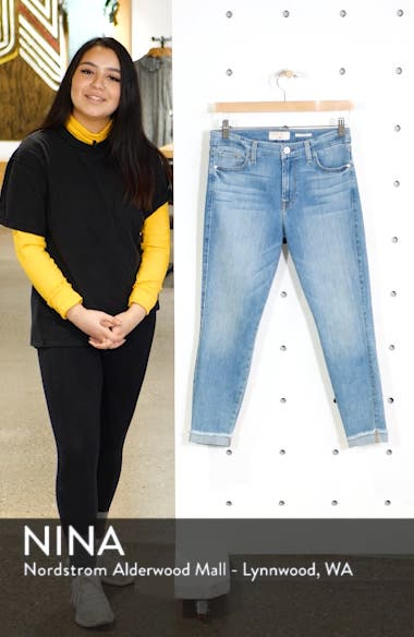 Cuffed Crop Skinny Jeans, sales video thumbnail