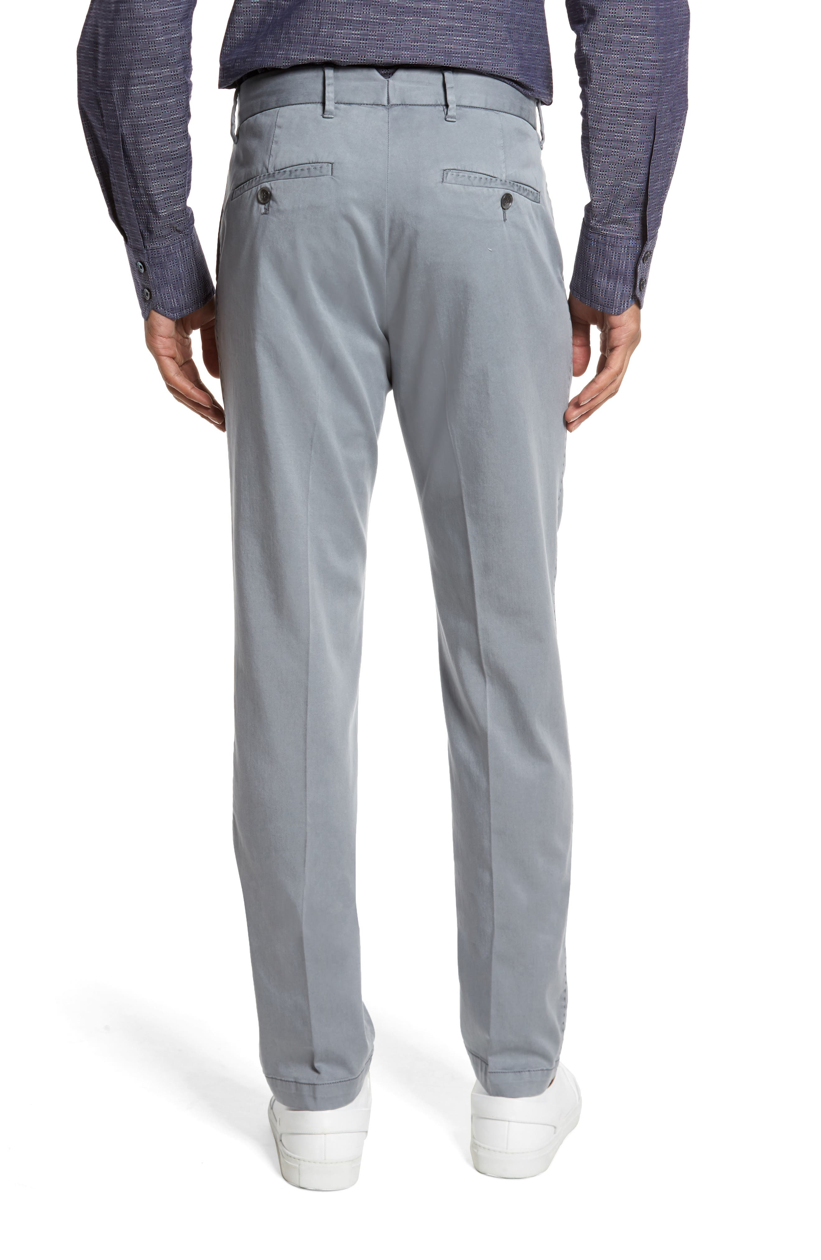 ZACHARY PRELL, Aster Straight Fit Pants, Alternate thumbnail 2, color, GREY