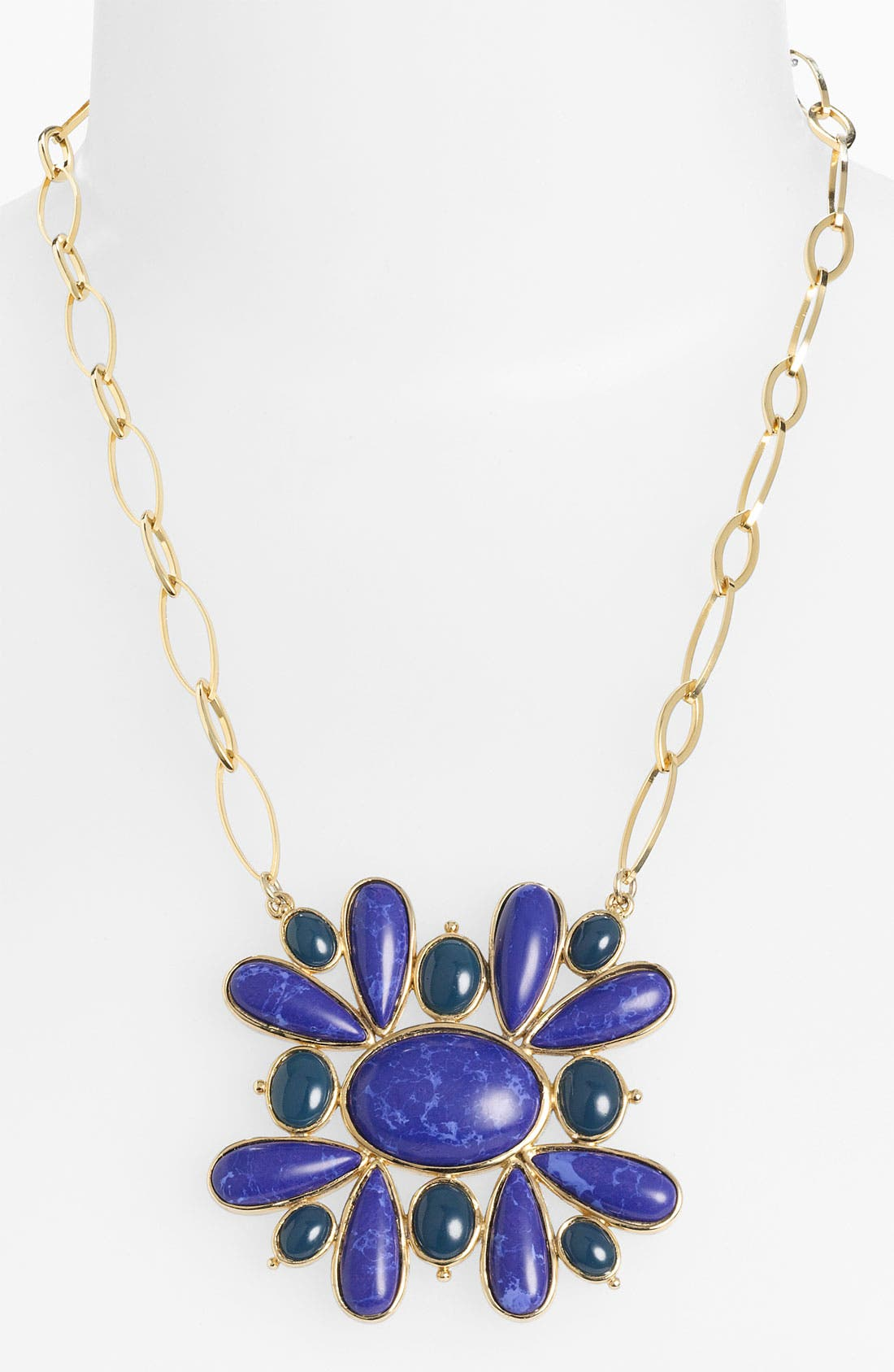 NORDSTROM, 'Lapis of Luxury' Statement Pendant Necklace, Main thumbnail 1, color, 400