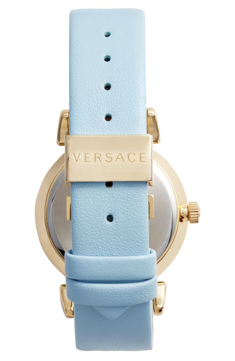 b6ae5acbec Collection V-Motif Vintage Logo Watch, 35Mm in Blue/ Gold