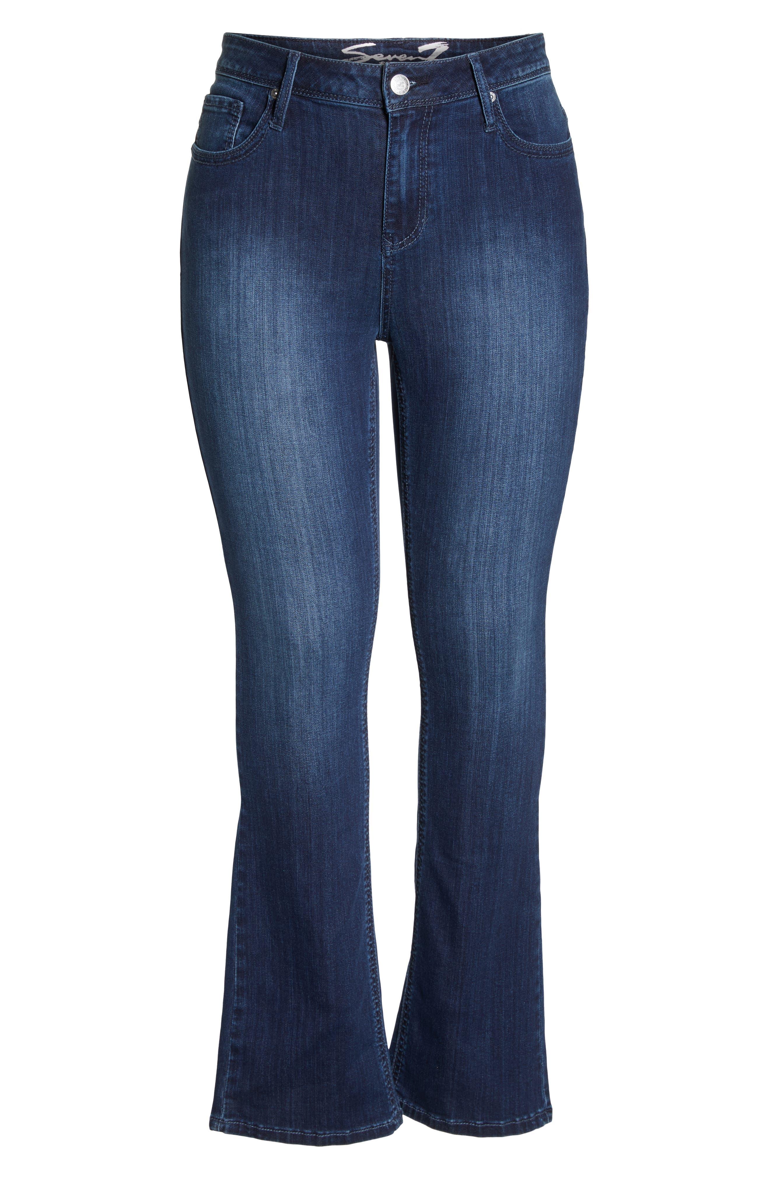 SEVEN7, Rocker Flap Pocket Slim Bootcut Jeans, Alternate thumbnail 7, color, CHALLENGER