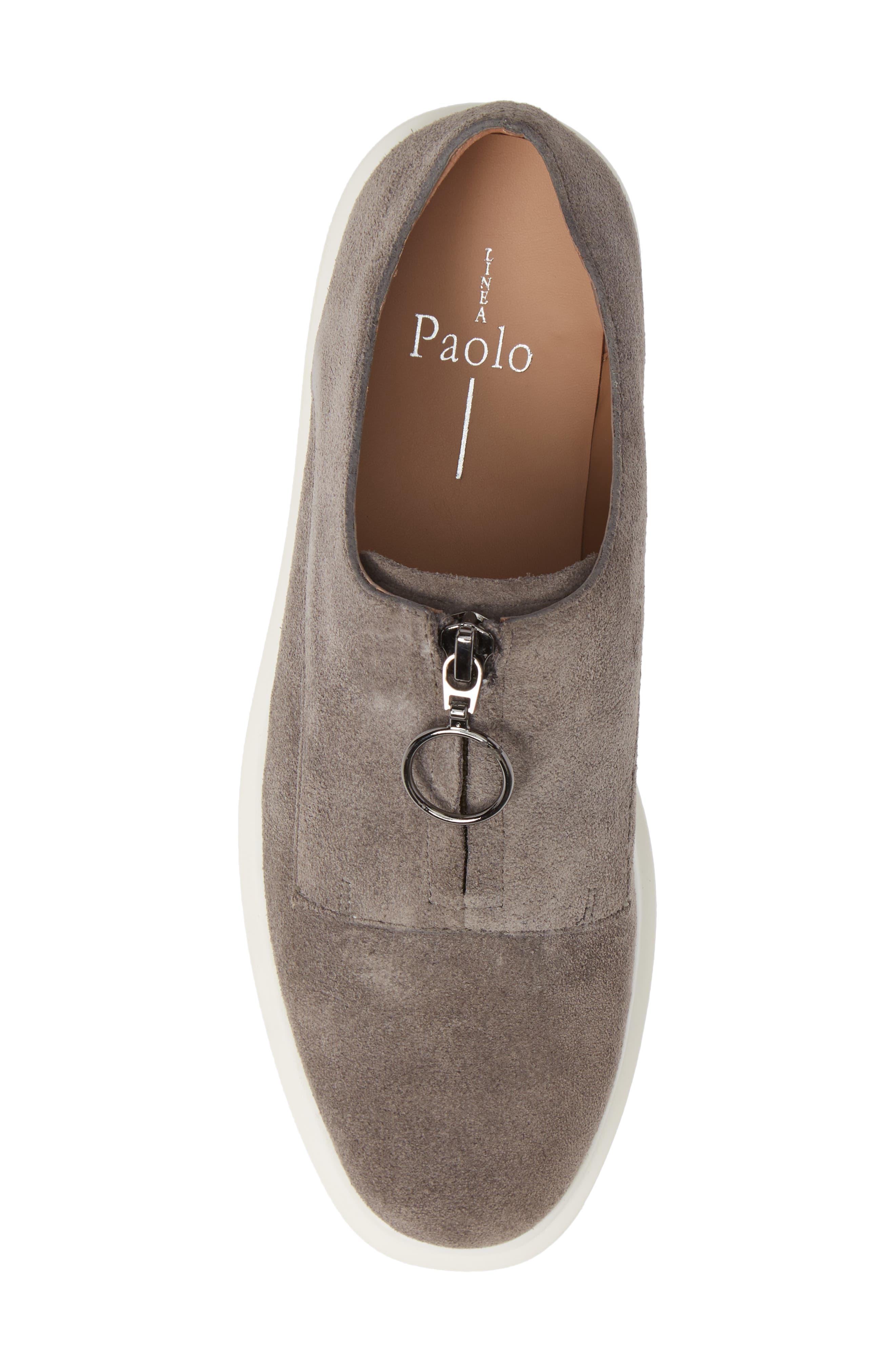 LINEA PAOLO, Kelani Platform Sneaker, Alternate thumbnail 5, color, STONE SUEDE