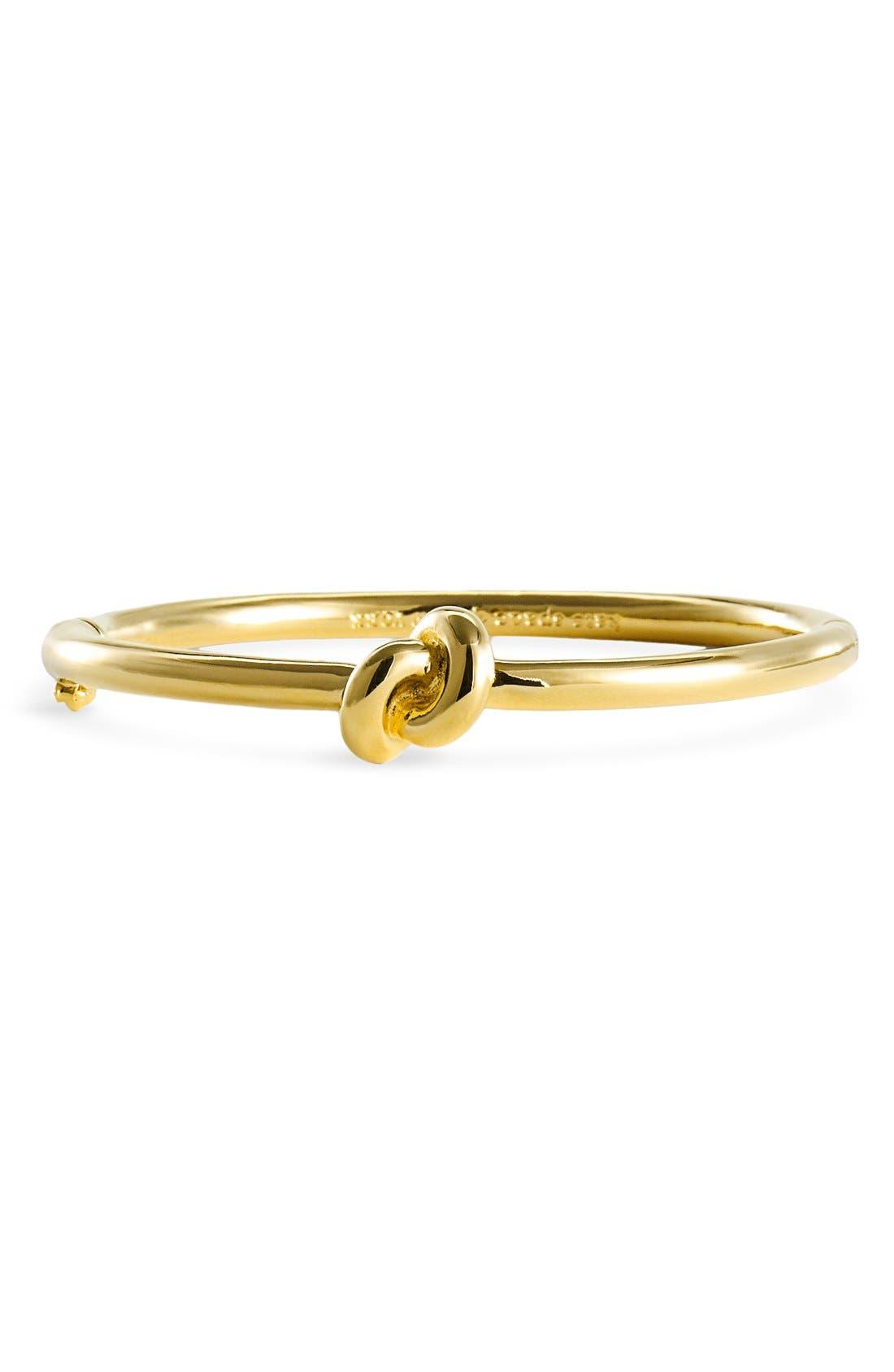 KATE SPADE NEW YORK, 'sailors knot' bangle, Alternate thumbnail 2, color, GOLD