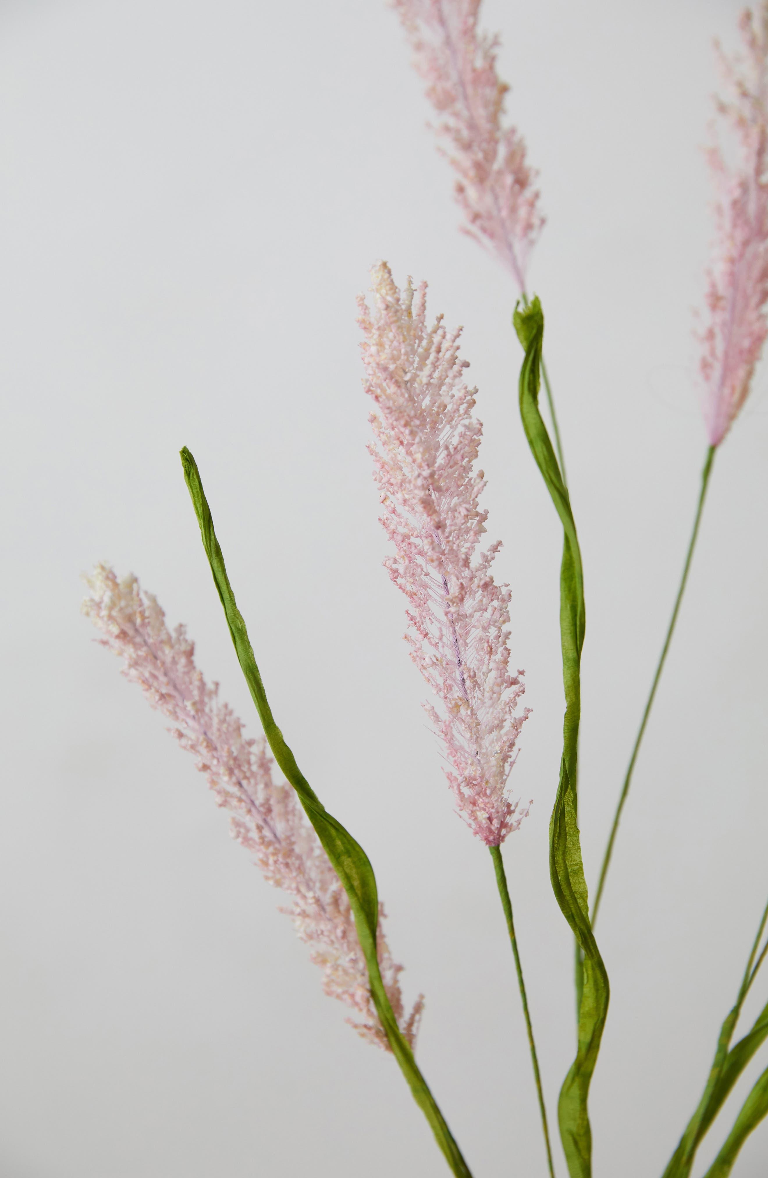 TERRAIN, Faux Floral Grass Spray, Alternate thumbnail 2, color, PINK