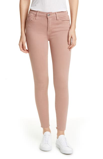 Frame Jeans LE HIGH RAW EDGE ANKLE SKINNY JEANS