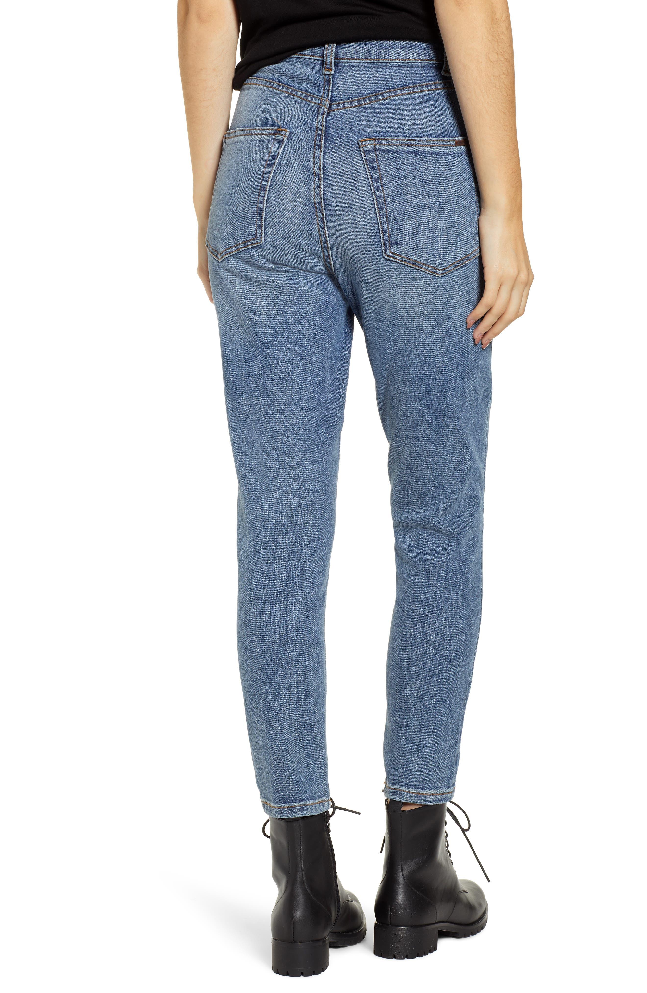STS BLUE, Sophia High Waist Mom Jeans, Alternate thumbnail 2, color, CONEFLOWER MED WASH