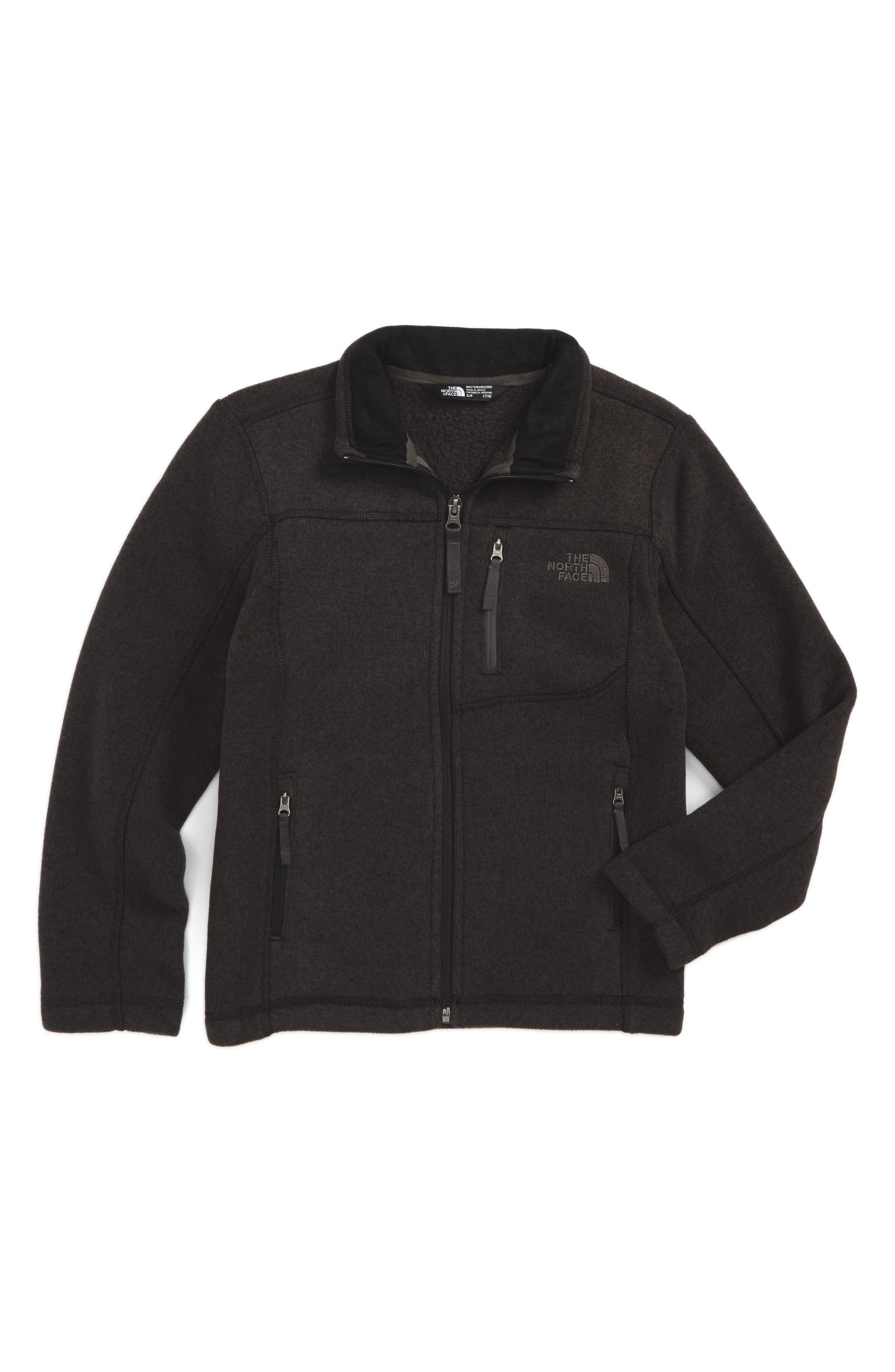 THE NORTH FACE, Gordon Lyons Sweater Fleece Zip Jacket, Main thumbnail 1, color, 025