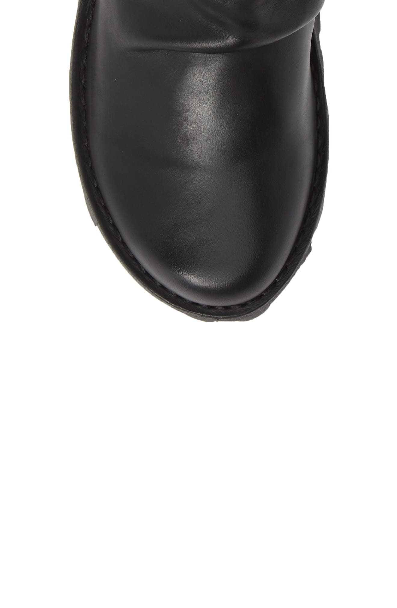 FLY LONDON, Mong Boot, Alternate thumbnail 5, color, BLACK LEATHER