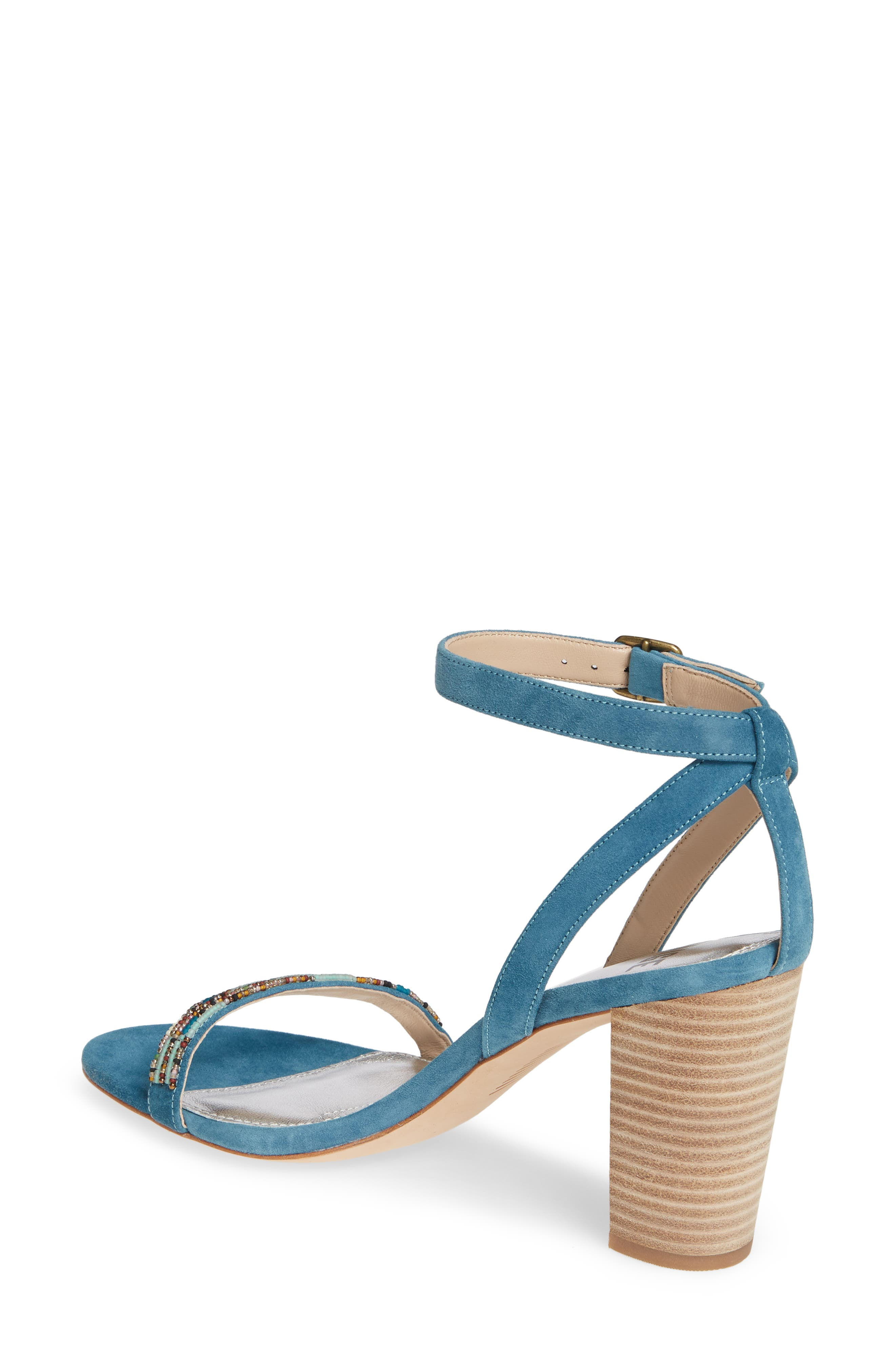 PAIGE, Gabriella Beaded Sandal, Alternate thumbnail 2, color, BLUE
