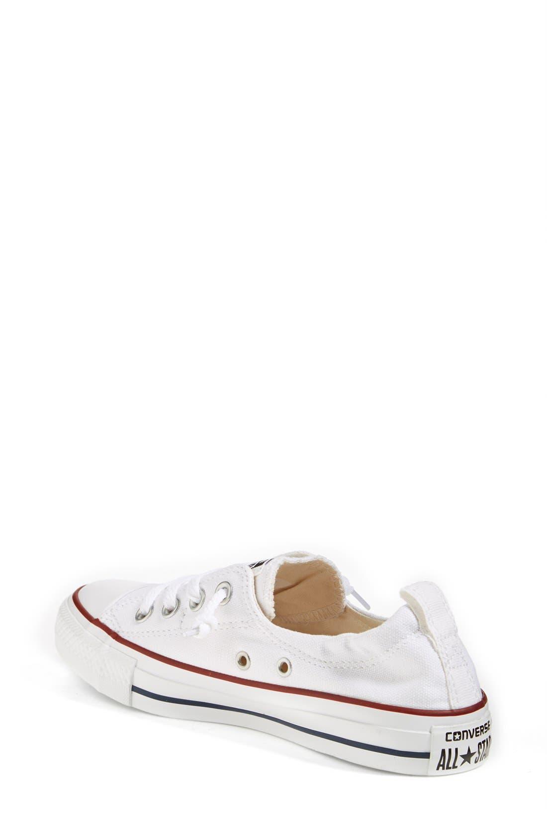 CONVERSE, Chuck Taylor<sup>®</sup> Shoreline Sneaker, Alternate thumbnail 5, color, WHITE
