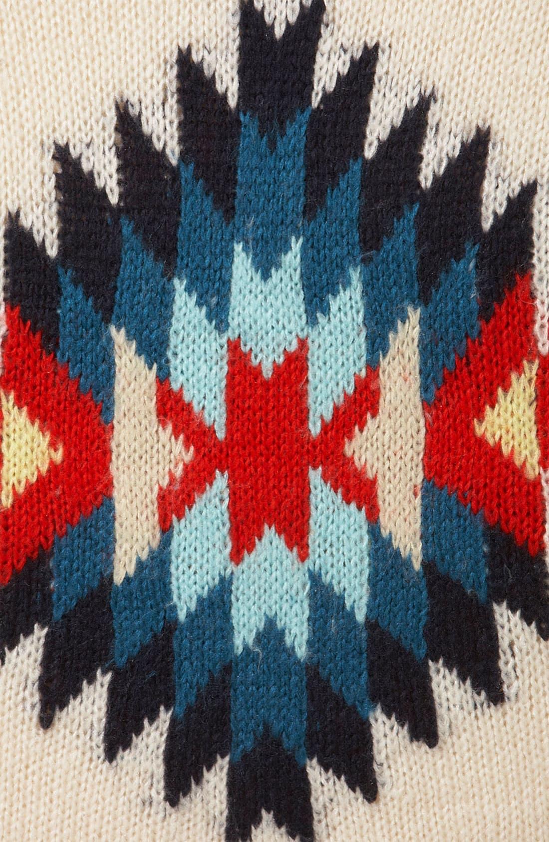 TOPSHOP, 'Eye Dazzler' Sweater, Alternate thumbnail 2, color, 901