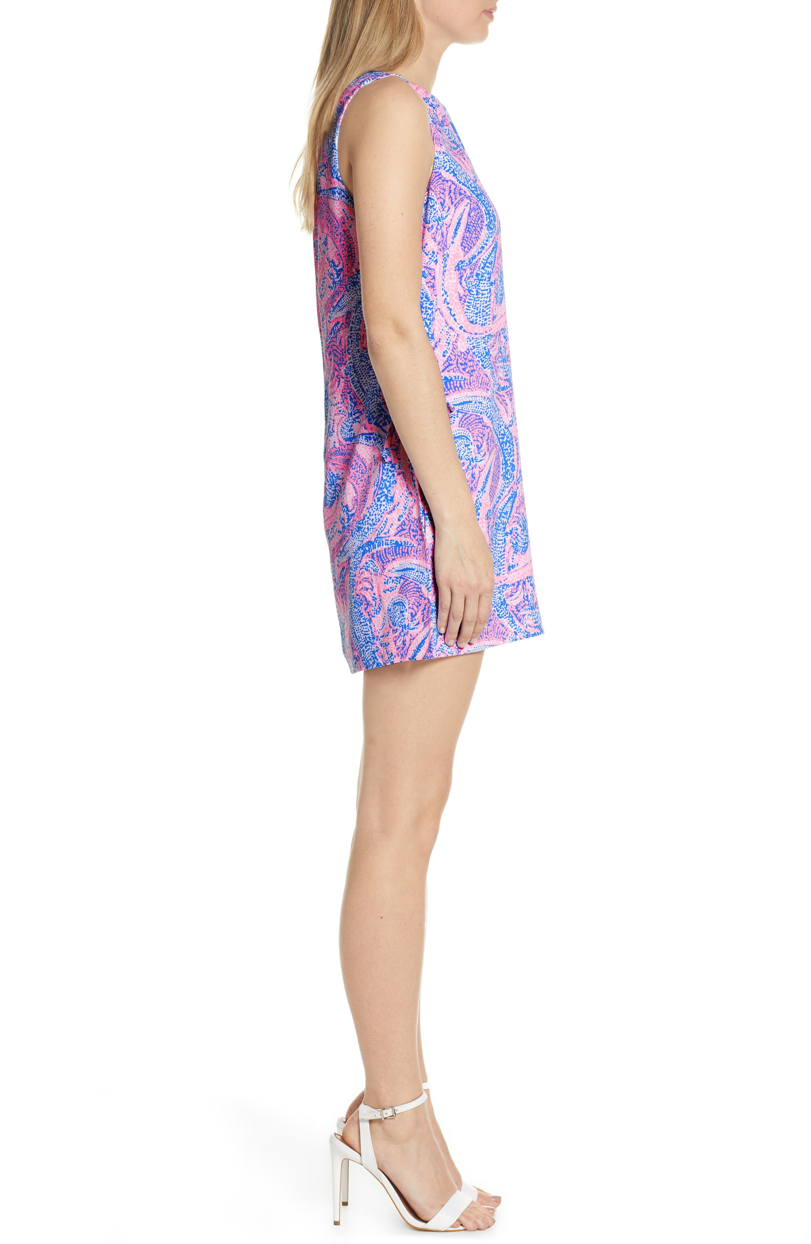LILLY PULITZER<SUP>®</SUP>, Donna Romper Dress, Alternate thumbnail 3, color, COASTAL BLUE MAYBE GATO